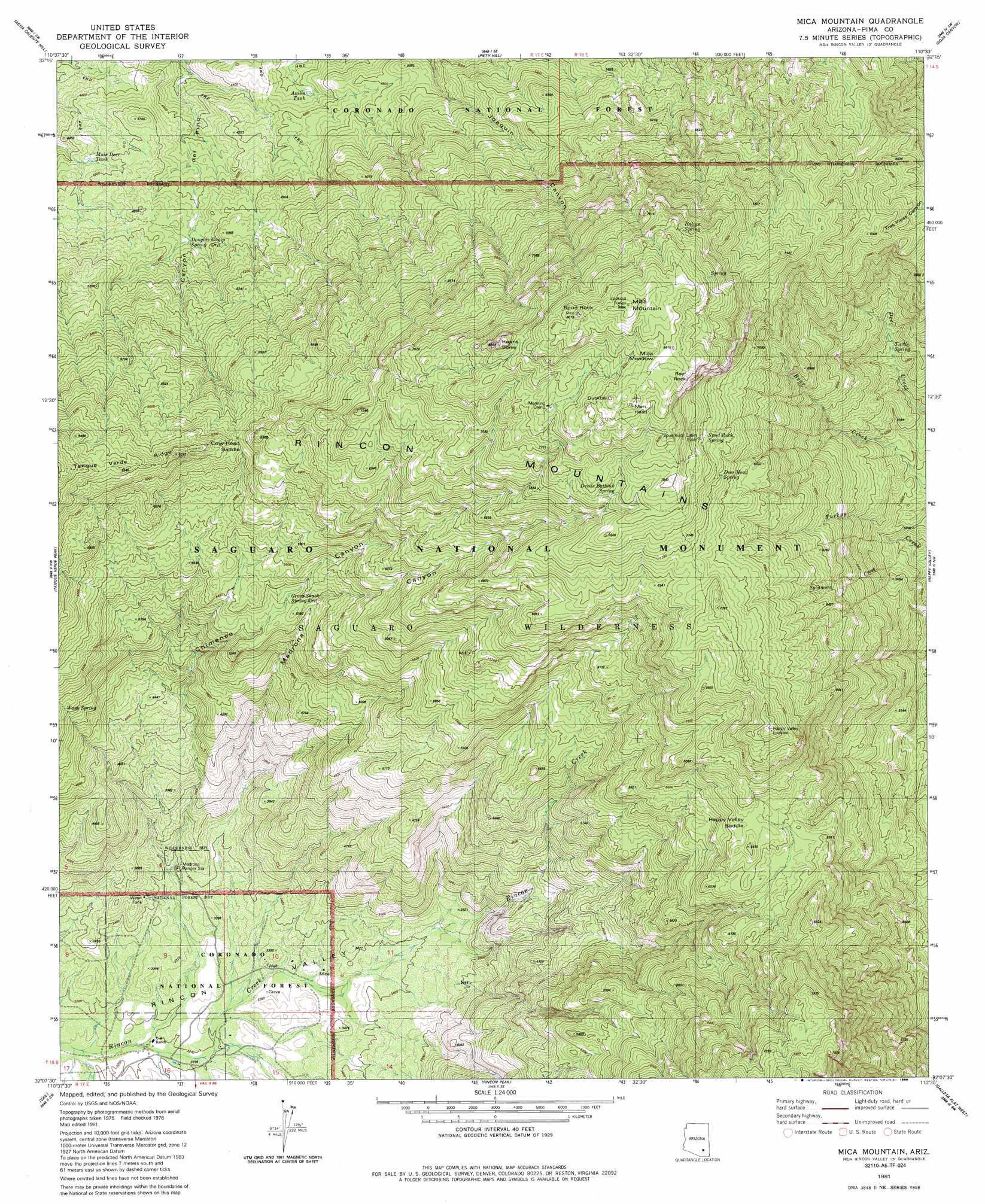 Ozark Mountains Topographic Map.Mica Mountain Topographic Map Az Usgs Topo Quad 32110b5