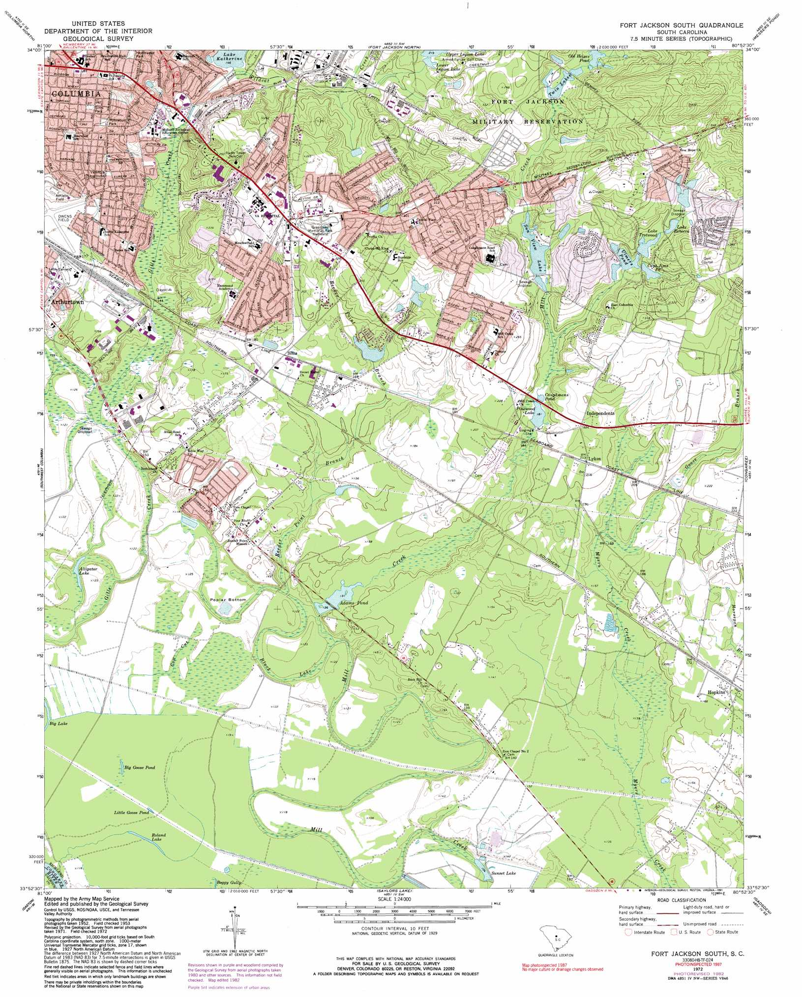 Fort Jackson South Topographic Map SC  USGS Topo Quad