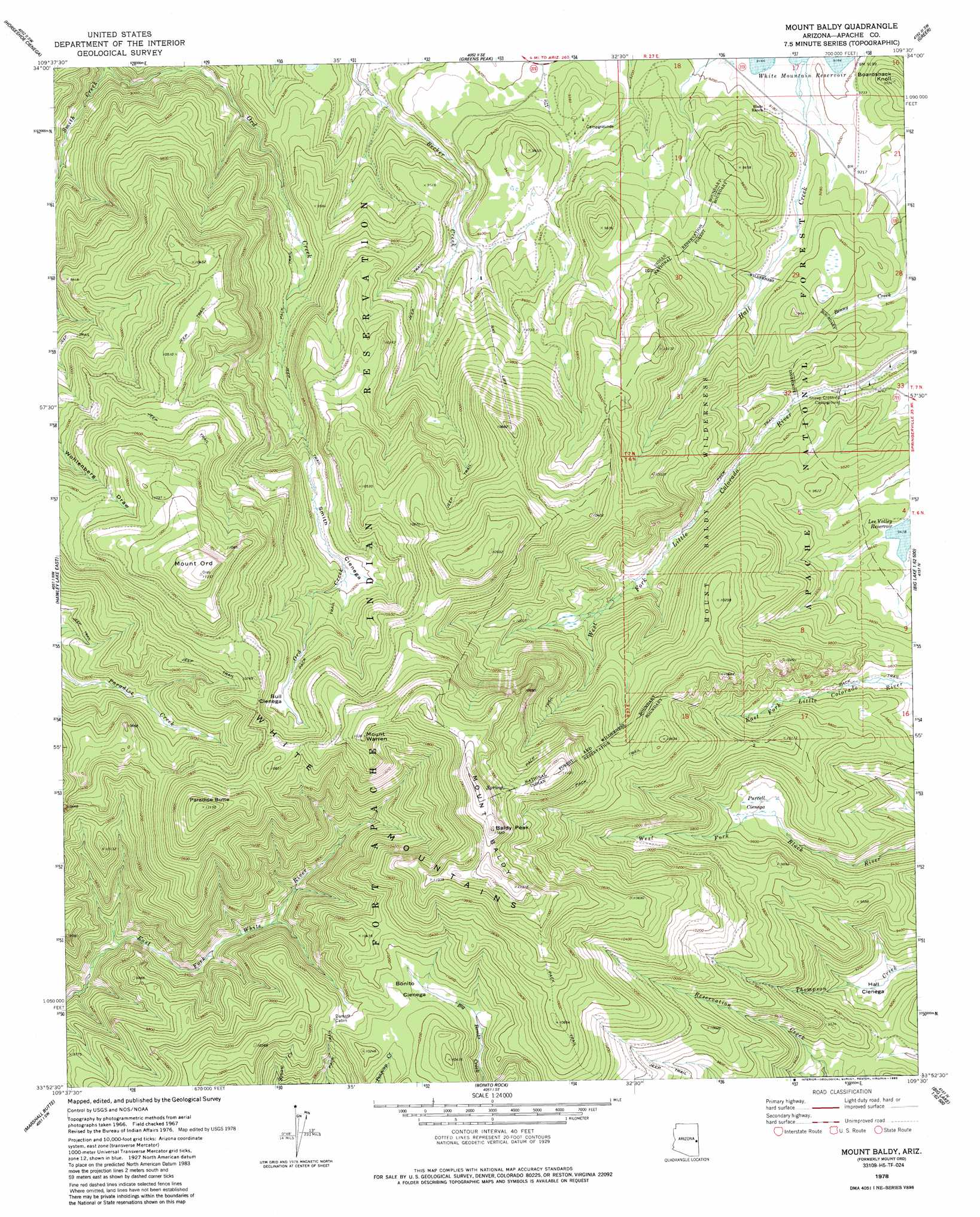 Mount Baldy Topographic Map AZ USGS Topo Quad H - Mt baldy map on map of us