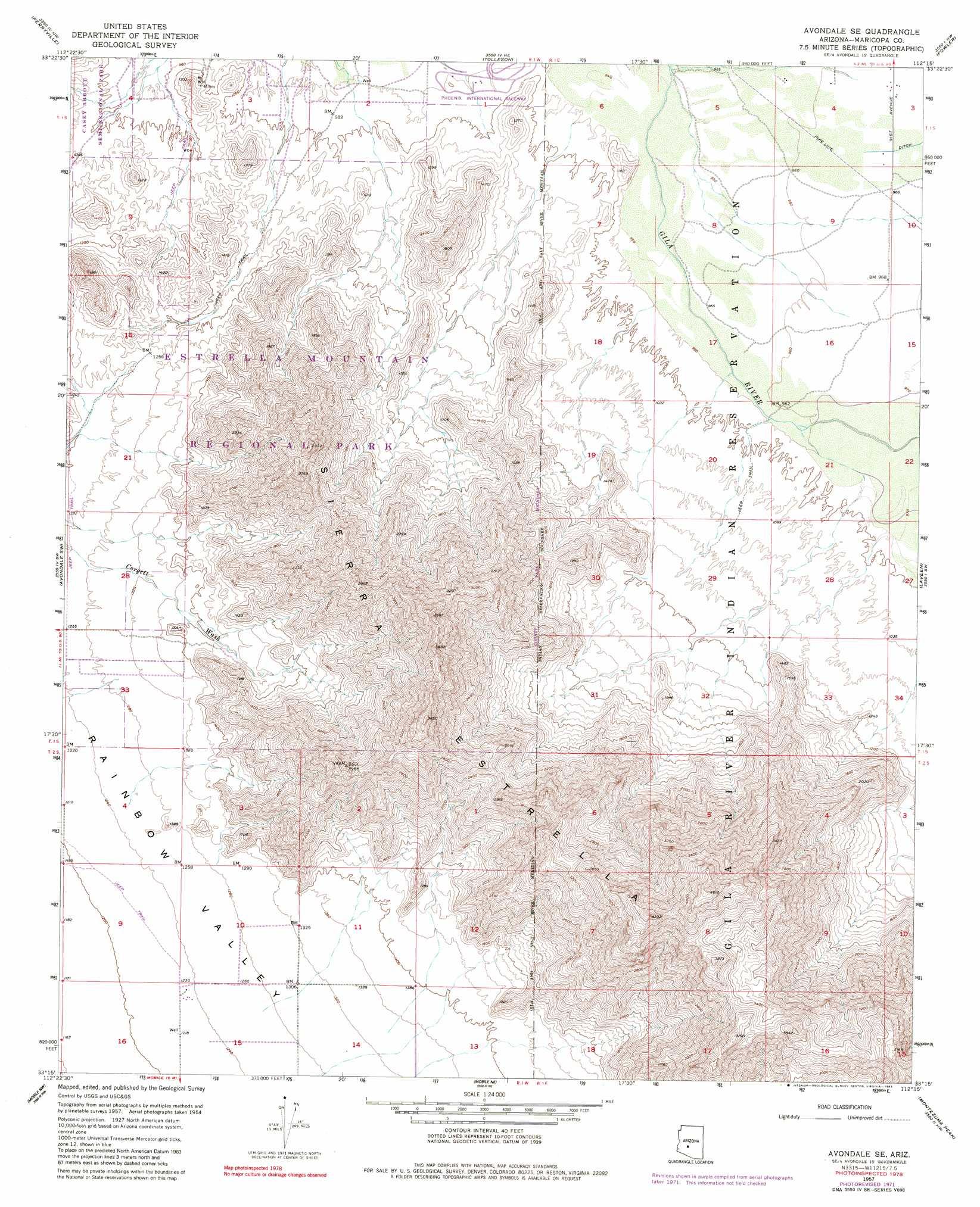 Avondale Se topographic map AZ USGS Topo Quad 33112c3