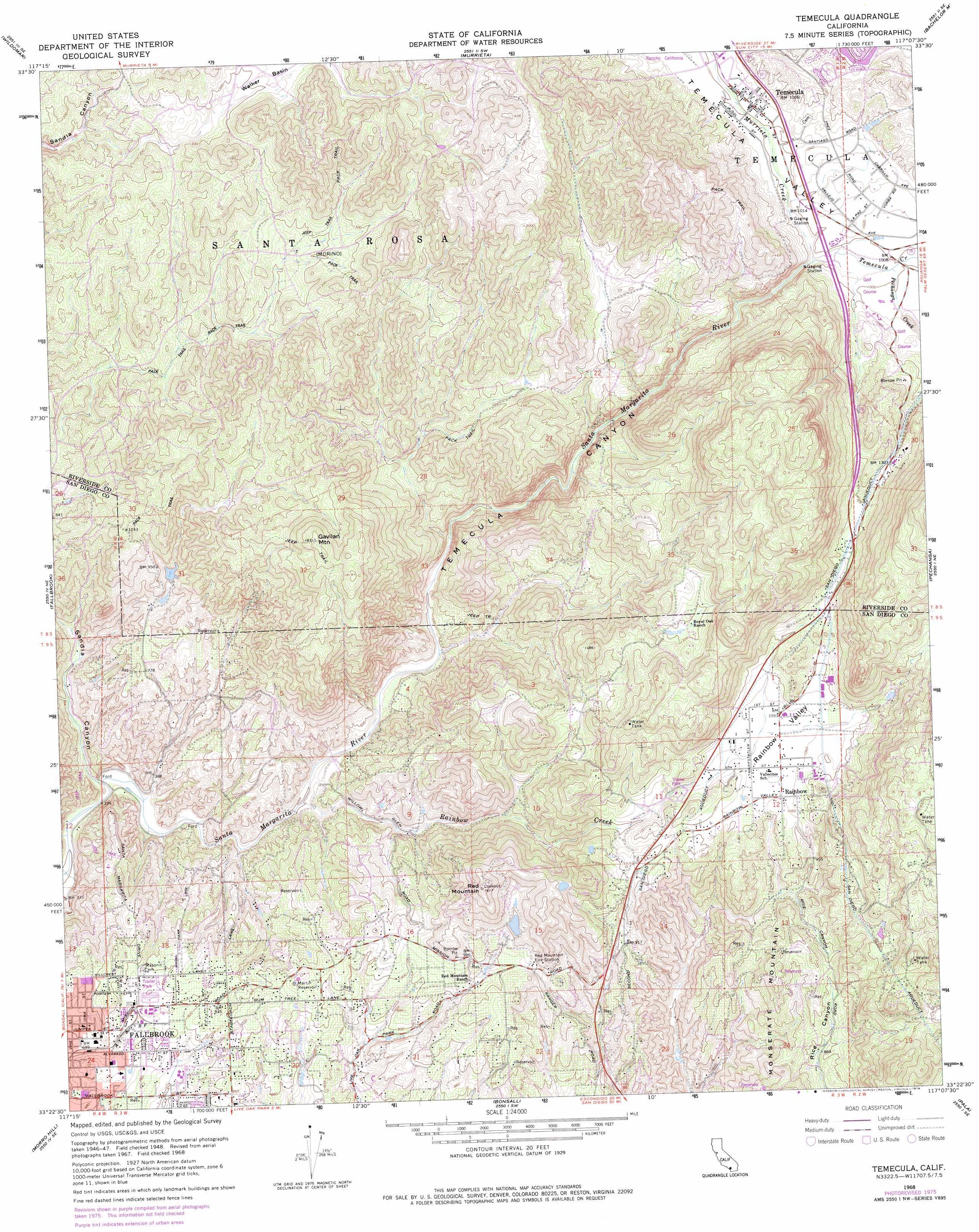Temecula Topographic Map Ca Usgs Topo Quad 33117d2