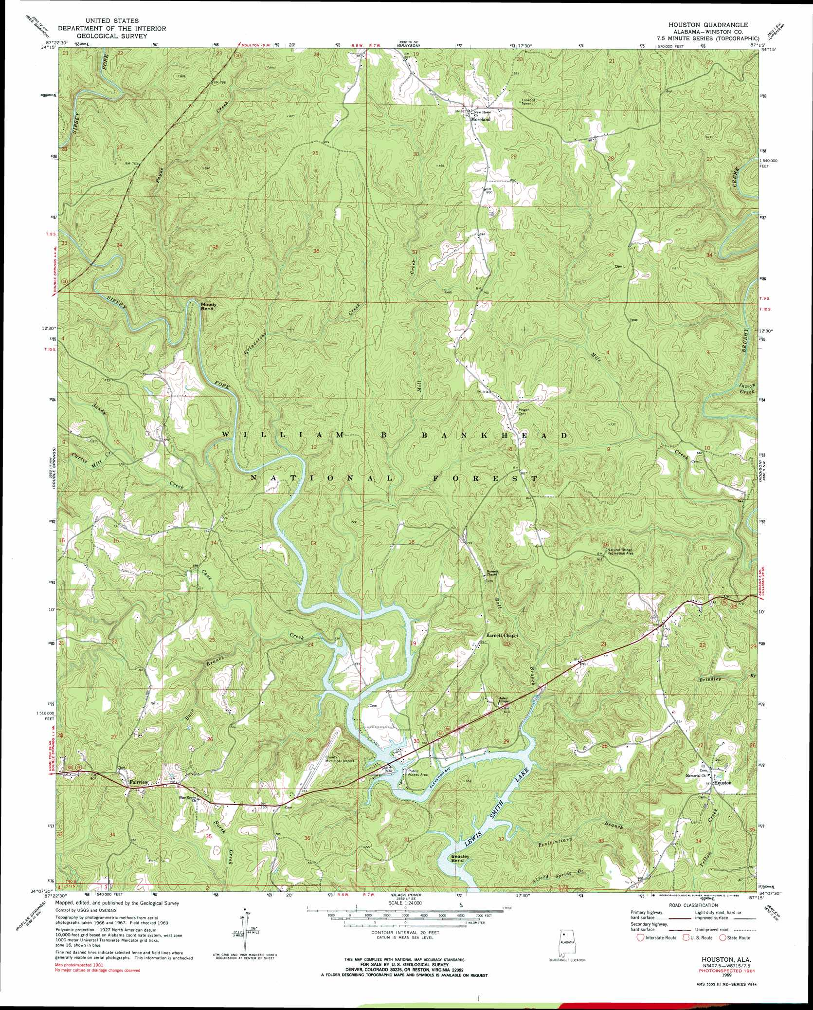 Houston Topographic Map Al Usgs Topo Quad 34087b3