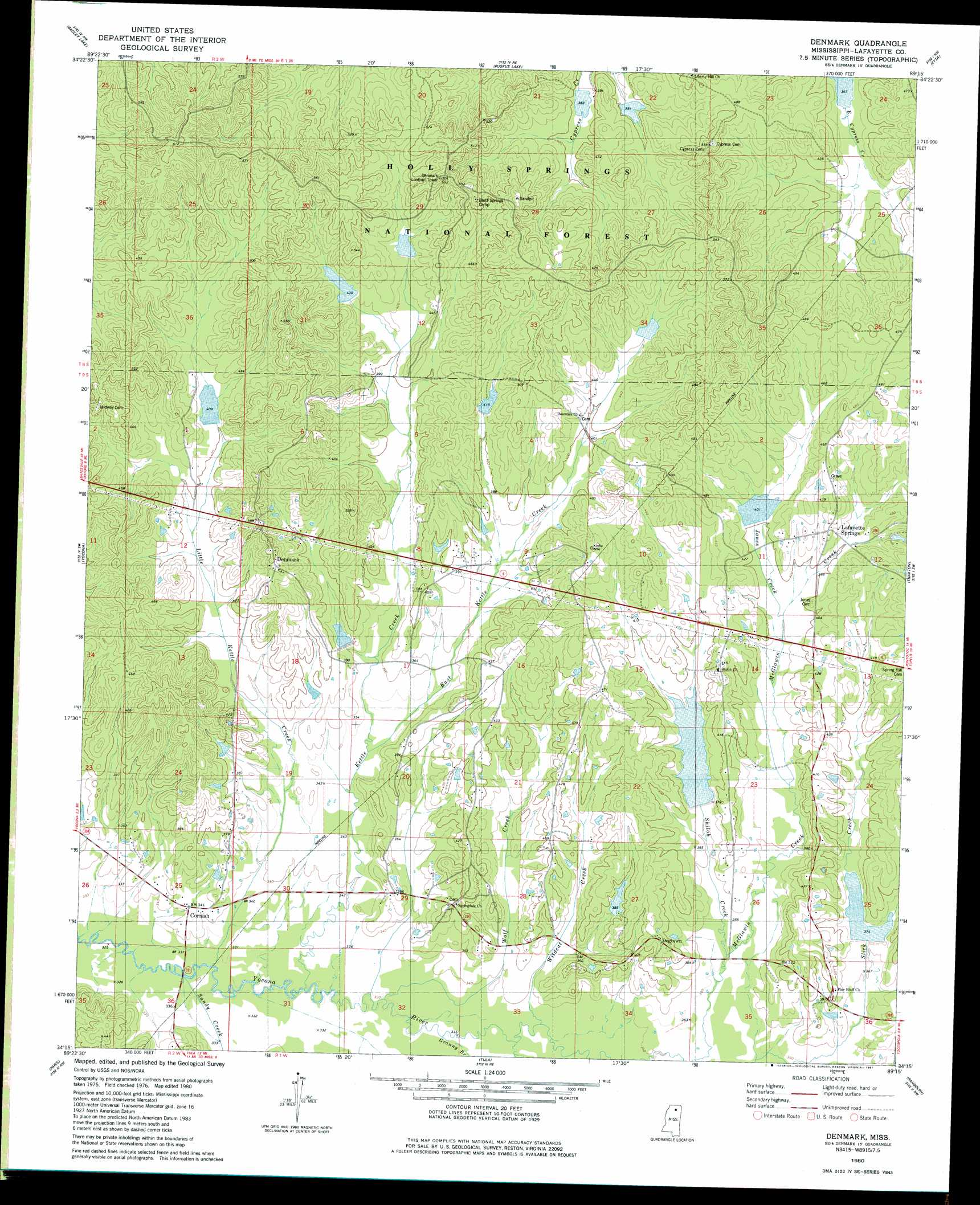 Denmark Topographic Map.Denmark Topographic Map Ms Usgs Topo Quad 34089c3