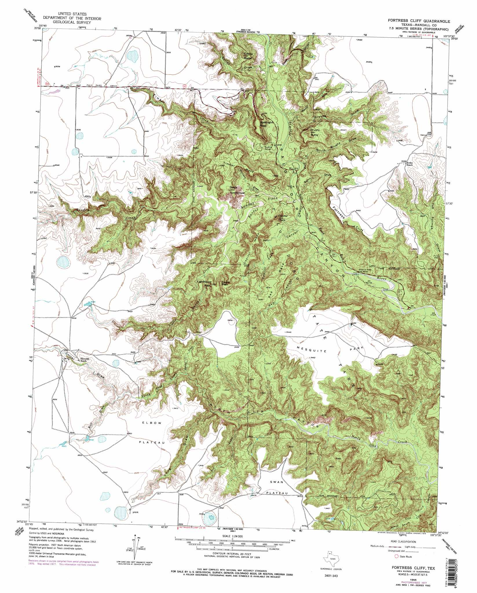 Cliff On A Topographic Map.Fortress Cliff Topographic Map Tx Usgs Topo Quad 34101h6