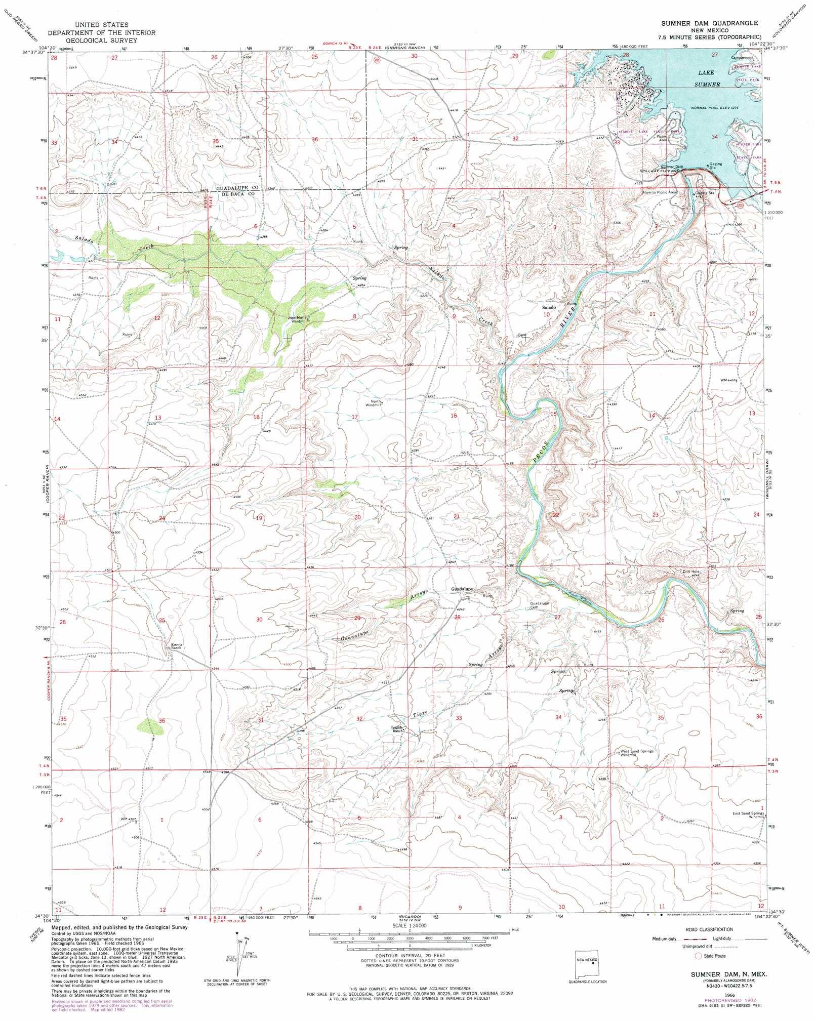 Alamogordo Dam topographic map NM USGS Topo Quad 34104e4