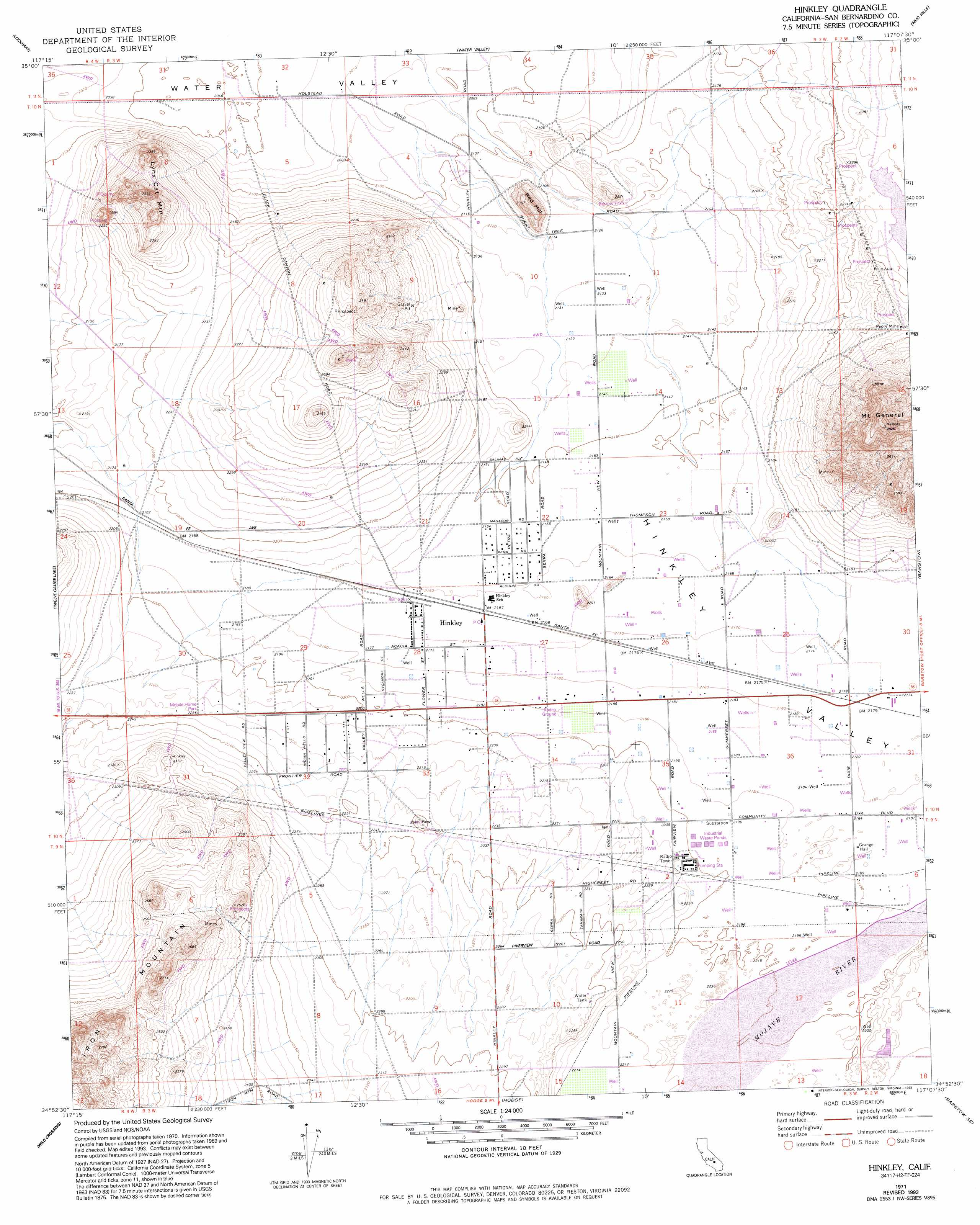 Hinkley Topographic Map Ca Usgs Topo Quad 34117h2