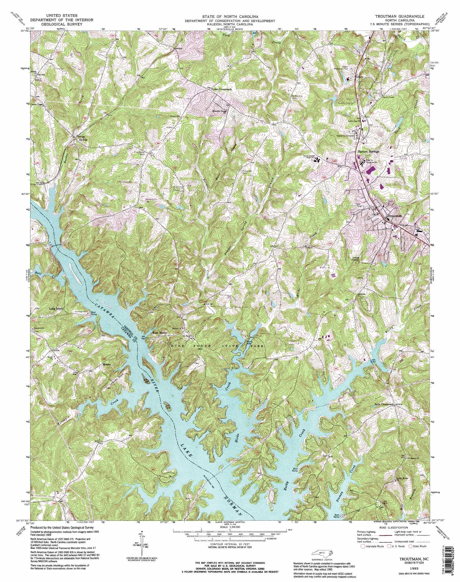 Troutman Topographic Map Nc Usgs Topo Quad 35080f8