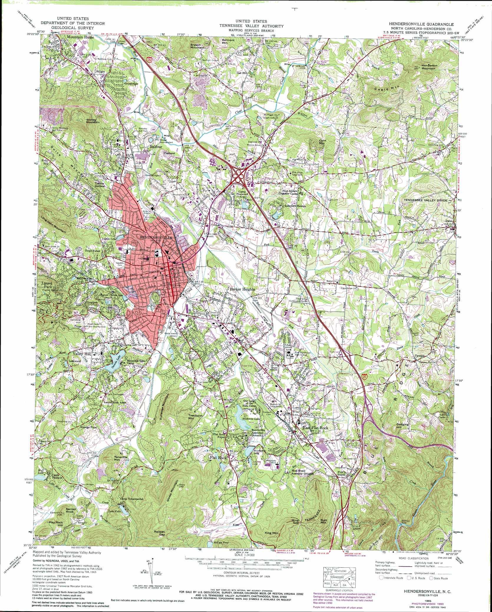 Hendersonville Topographic Map Nc Usgs Topo Quad 35082c4