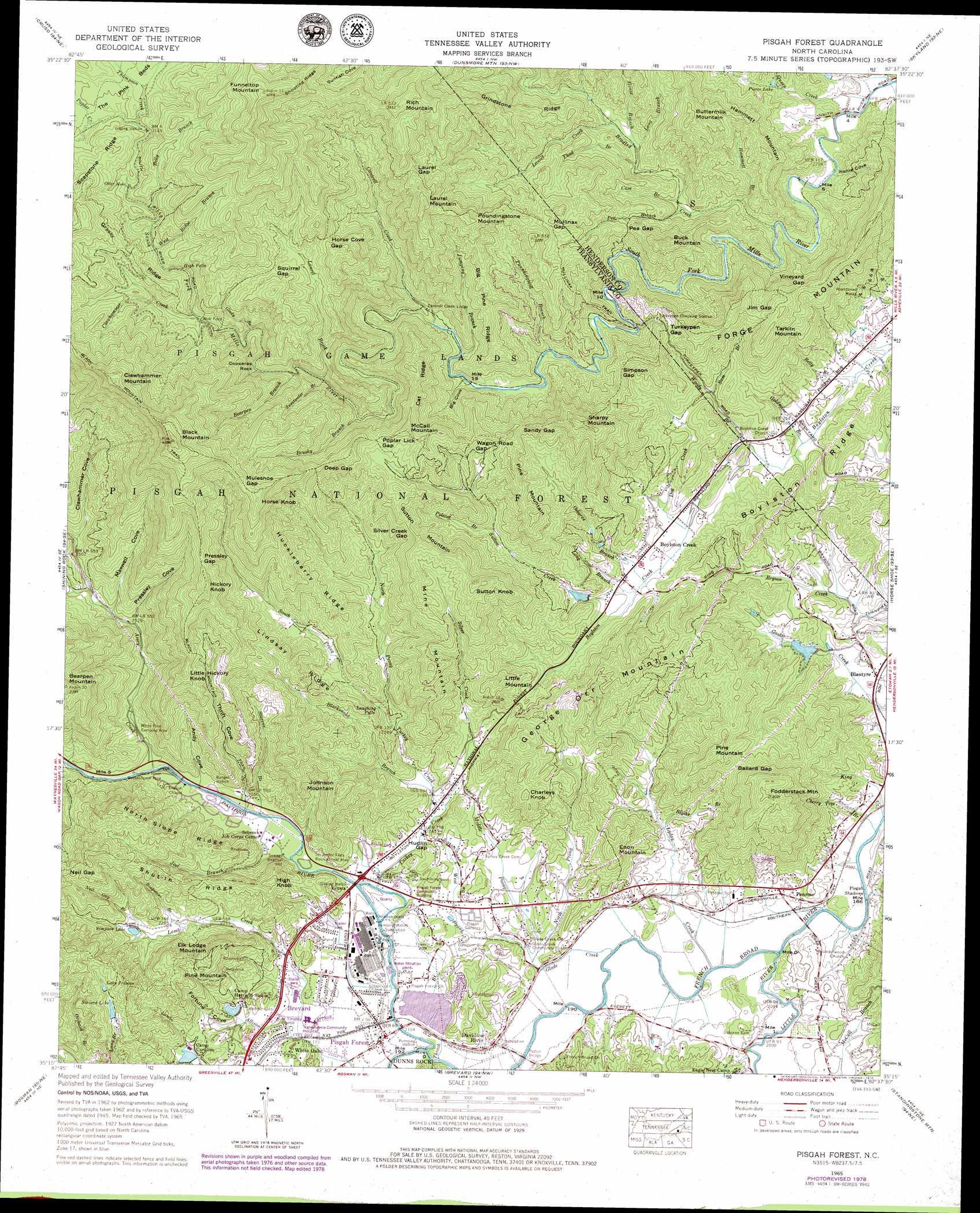 Pisgah Forest Topographic Map Nc Usgs Topo Quad 35082c6