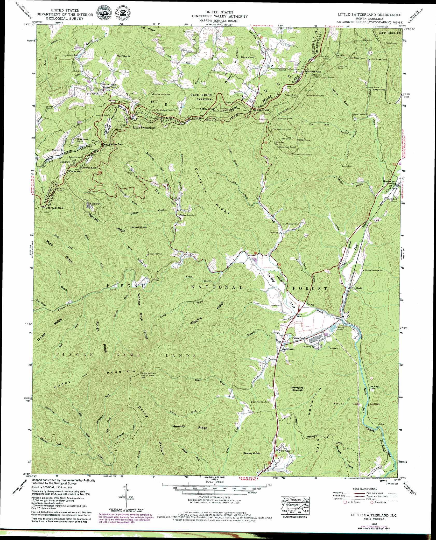Little Switzerland Topographic Map Nc Usgs Topo Quad 35082g1