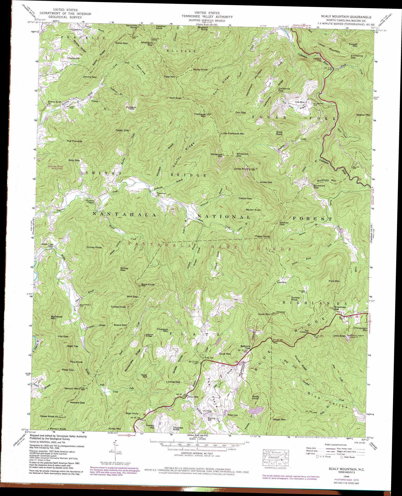 Scaly Mountain Topographic Map Nc Usgs Topo Quad 35083a3