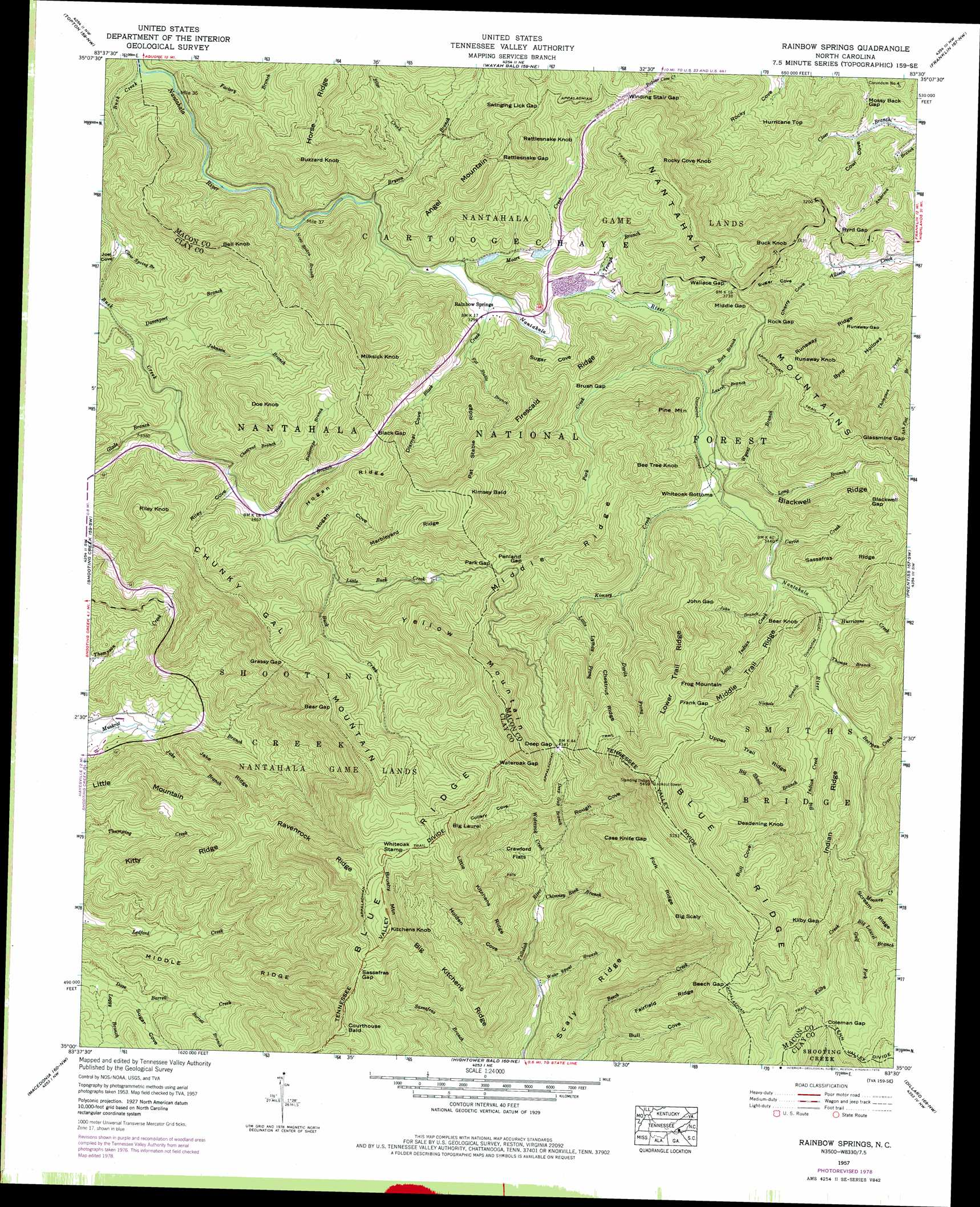 Rainbow Springs Topographic Map Nc Usgs Topo Quad 35083a5