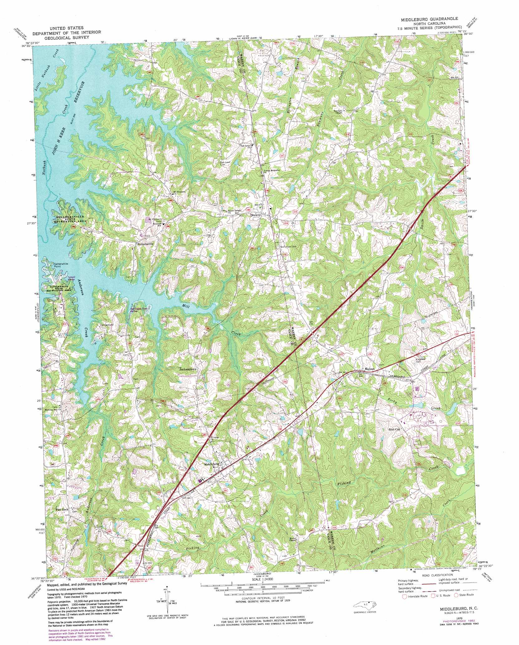 Middleburg Topographic Map Nc Usgs Topo Quad 36078d3