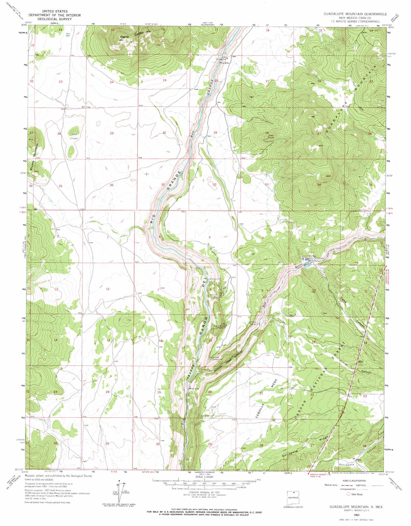 Guadalupe Mountain Topographic Map NM USGS Topo Quad F - Topographical map of new mexico