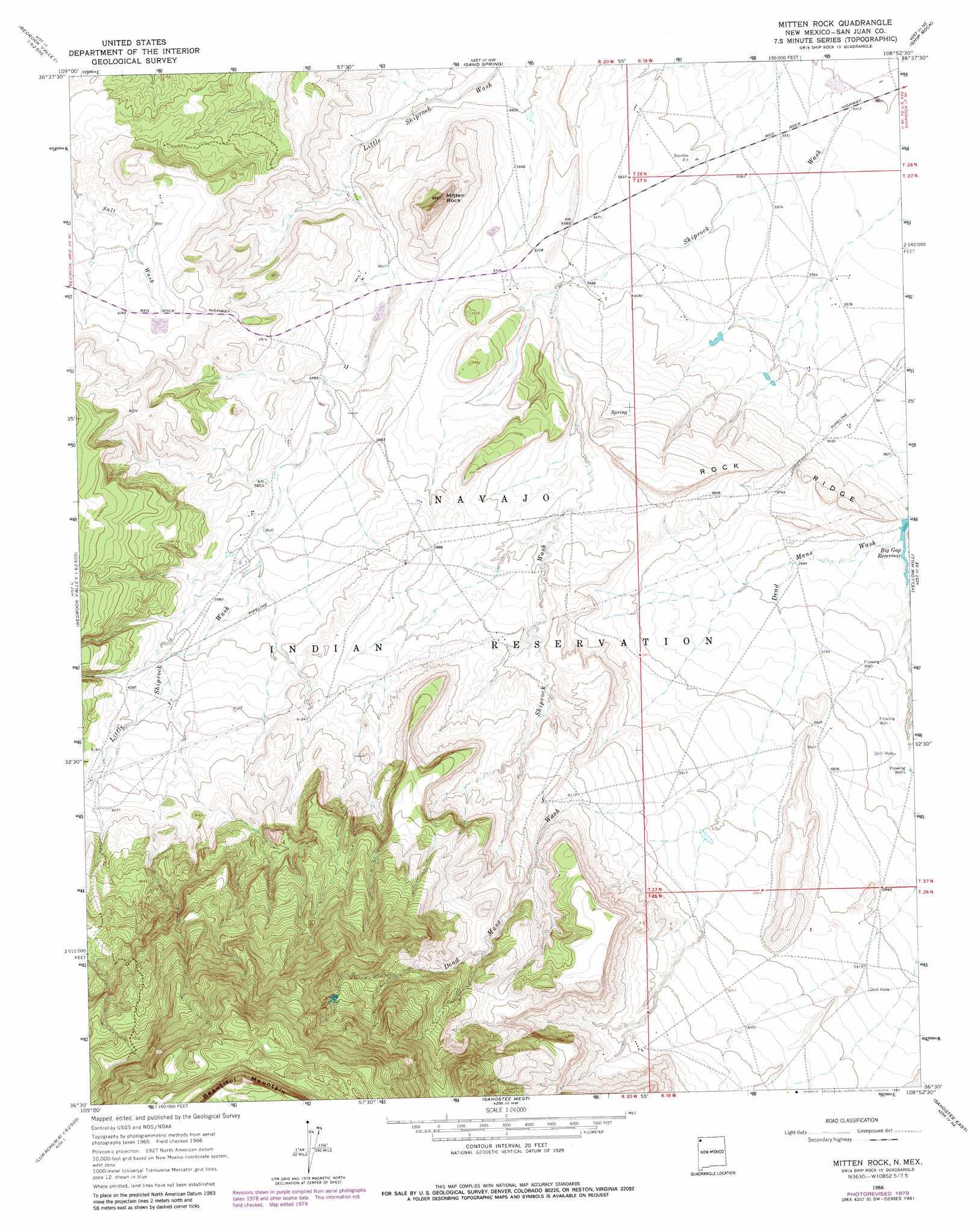 Mitten Rock Topographic Map NM  USGS Topo Quad 36108e8