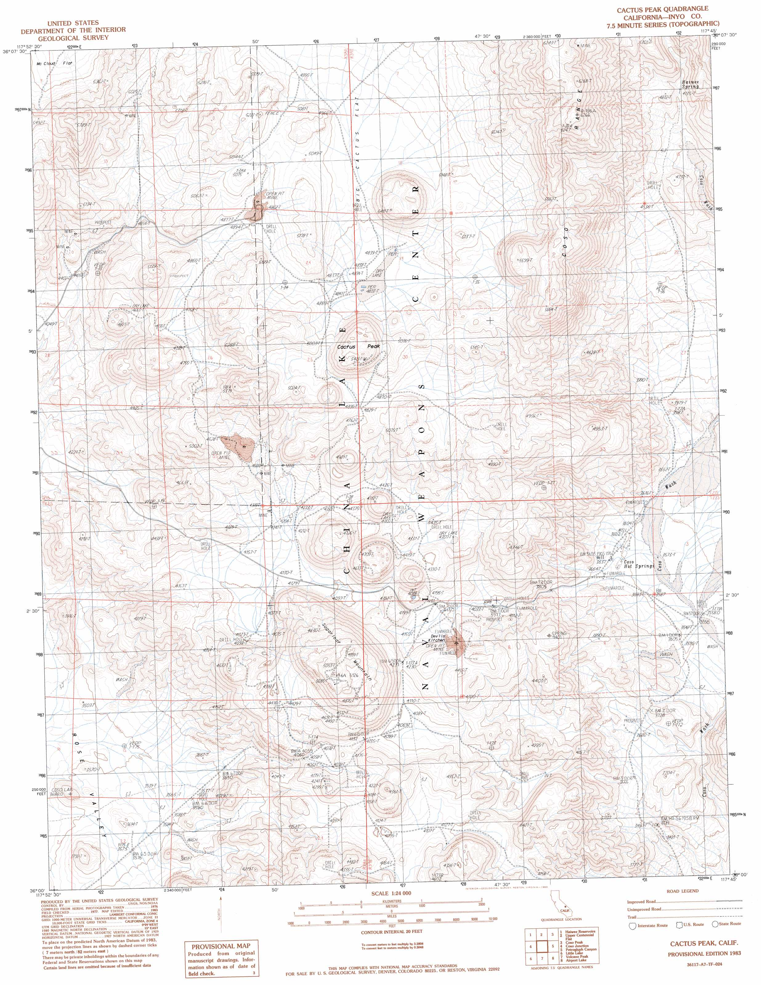 Buy this Cactus Peak topo map