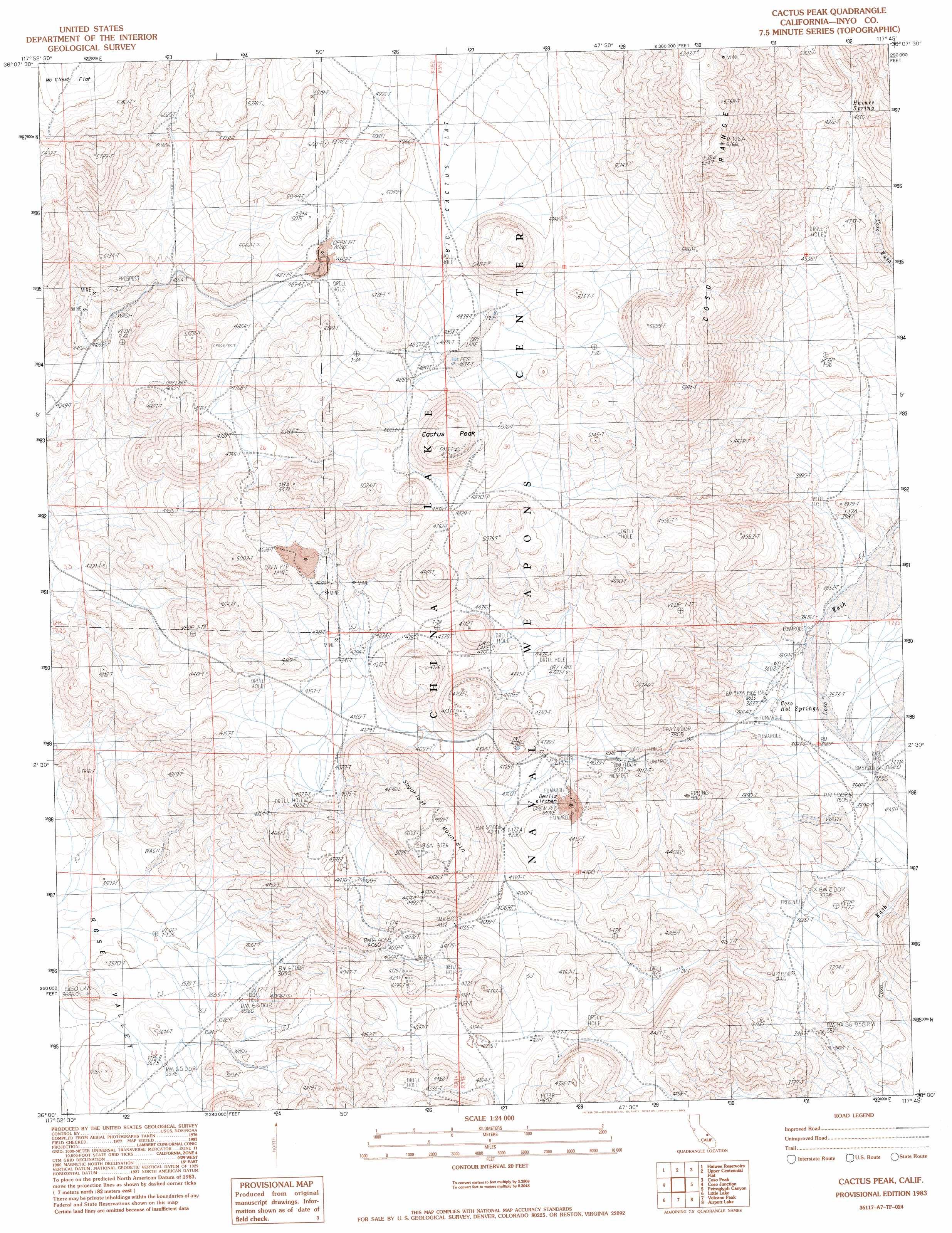 Buy this Cactus Peak topo map