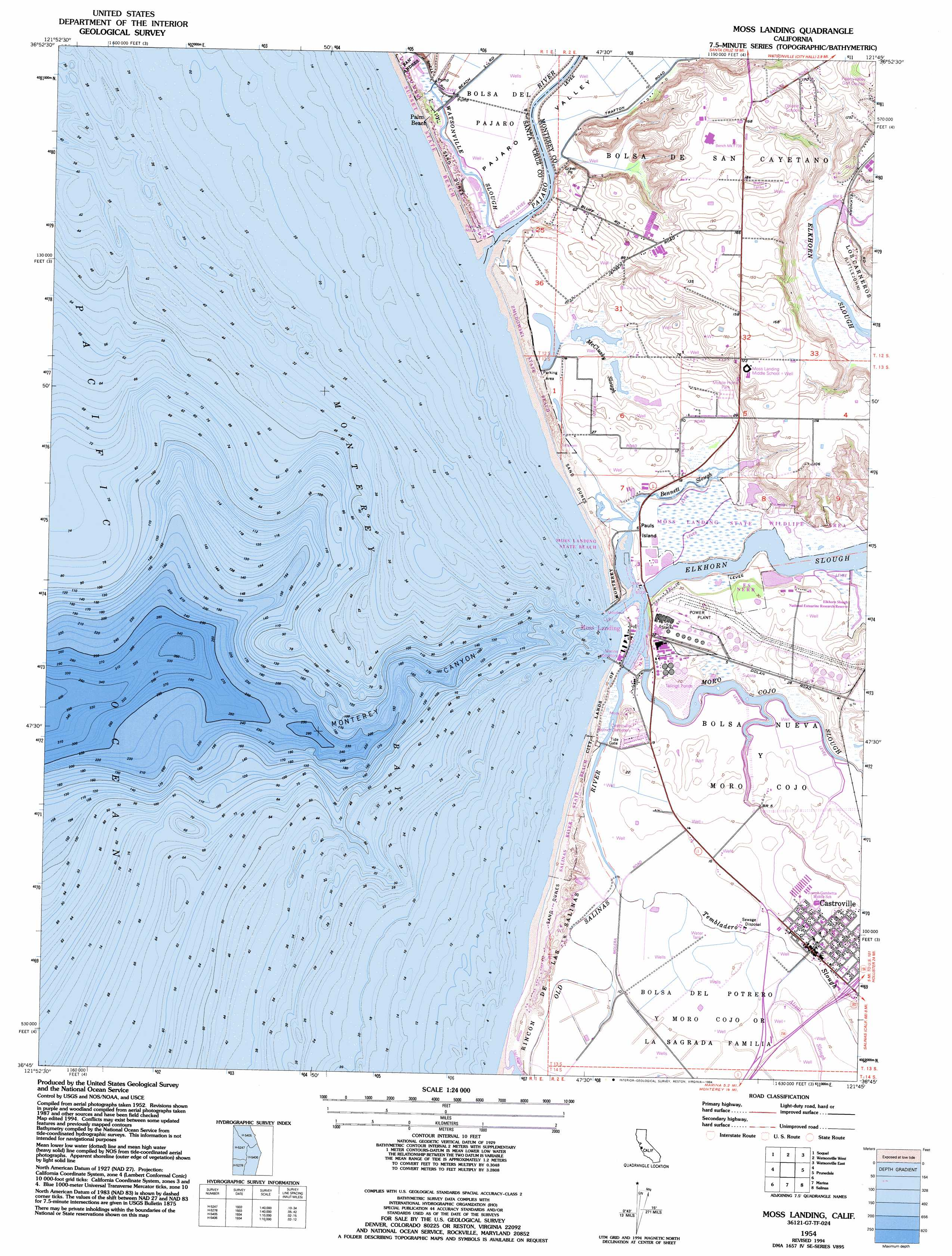 Moss Landing Topographic Map CA USGS Topo Quad G - Us geological survey topographic maps for sale