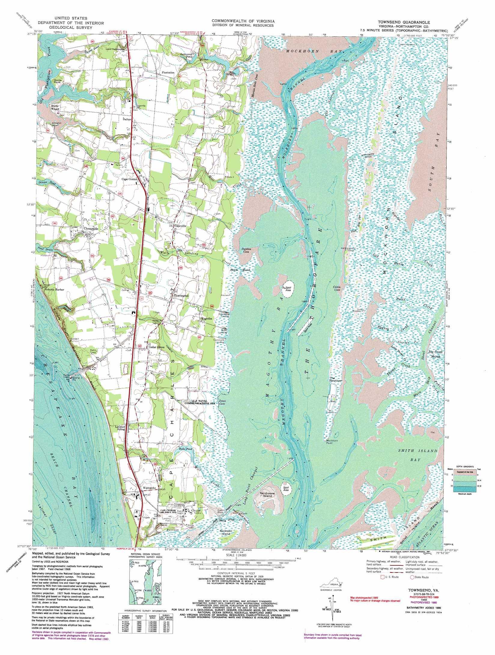 Townsend Topographic Map Va Usgs Topo Quad 37075b8