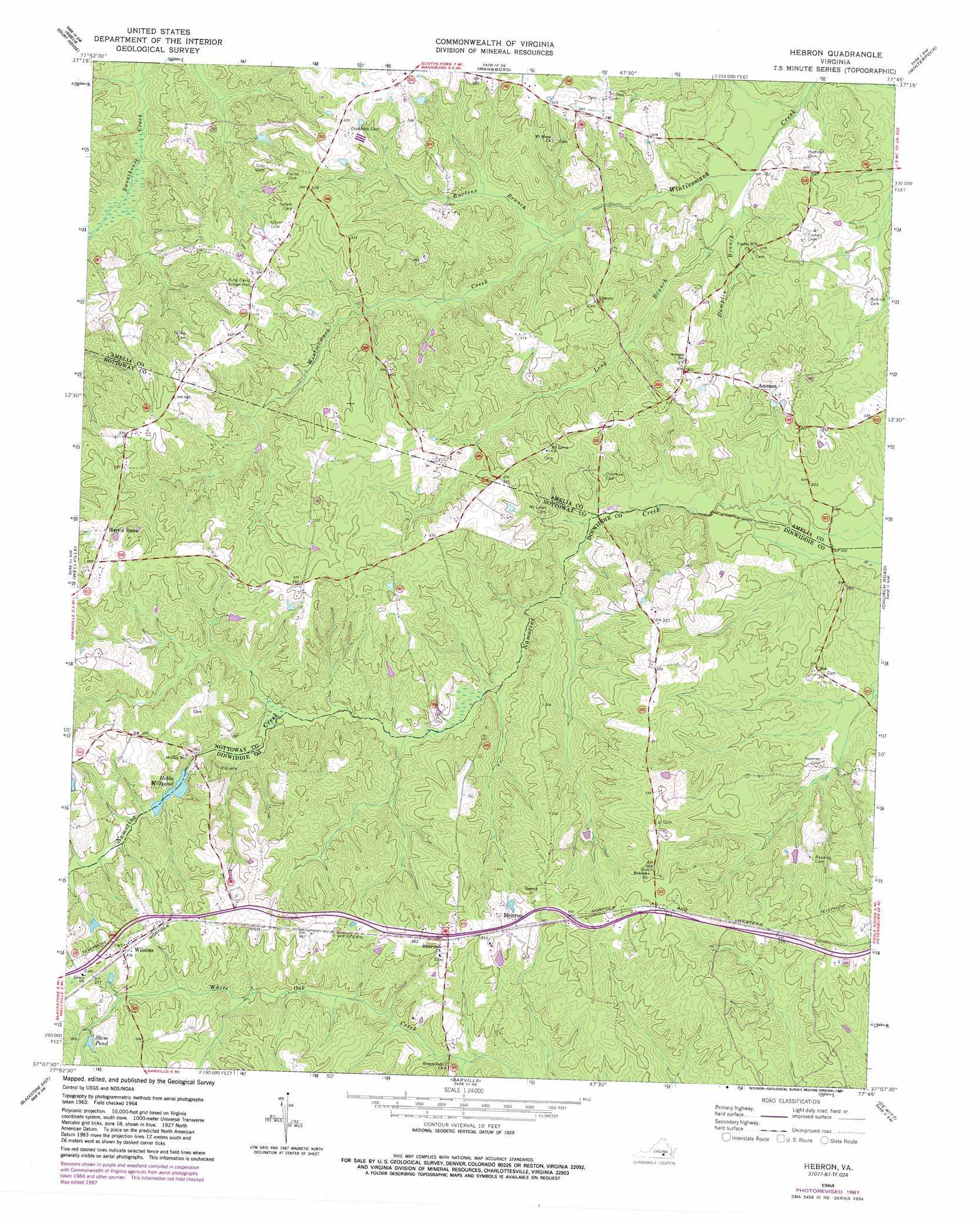 Hebron Topographic Map Va Usgs Topo Quad 37077b7