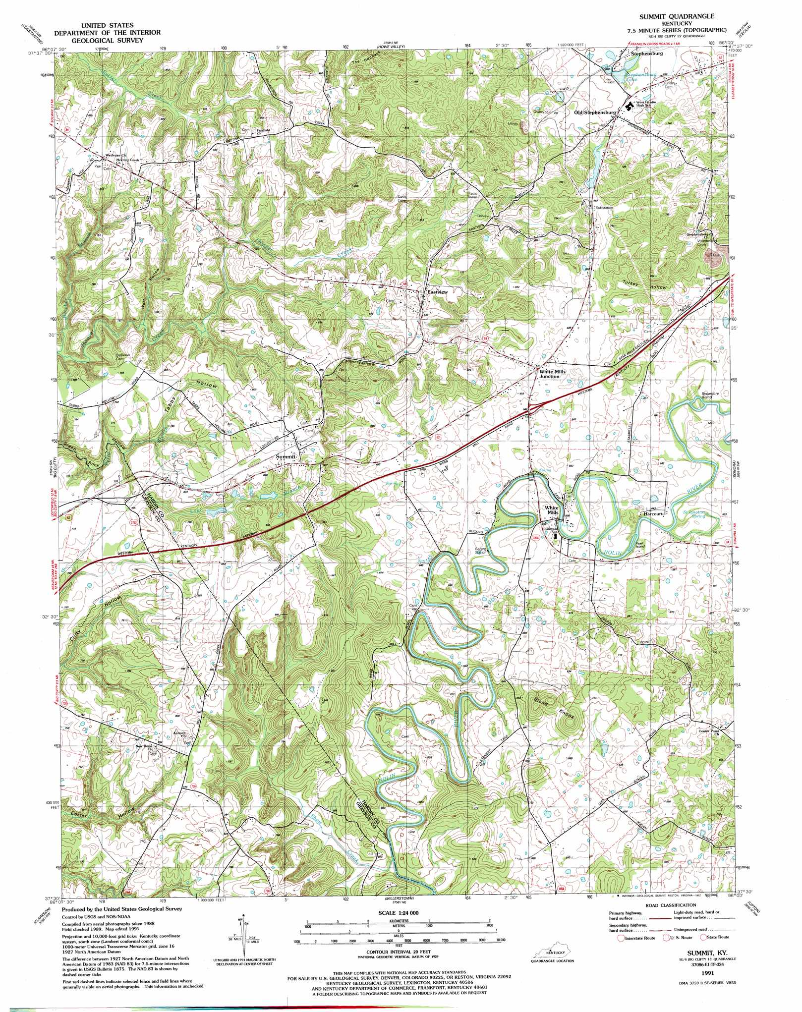 Summit Topographic Map KY  USGS Topo Quad 37086e1