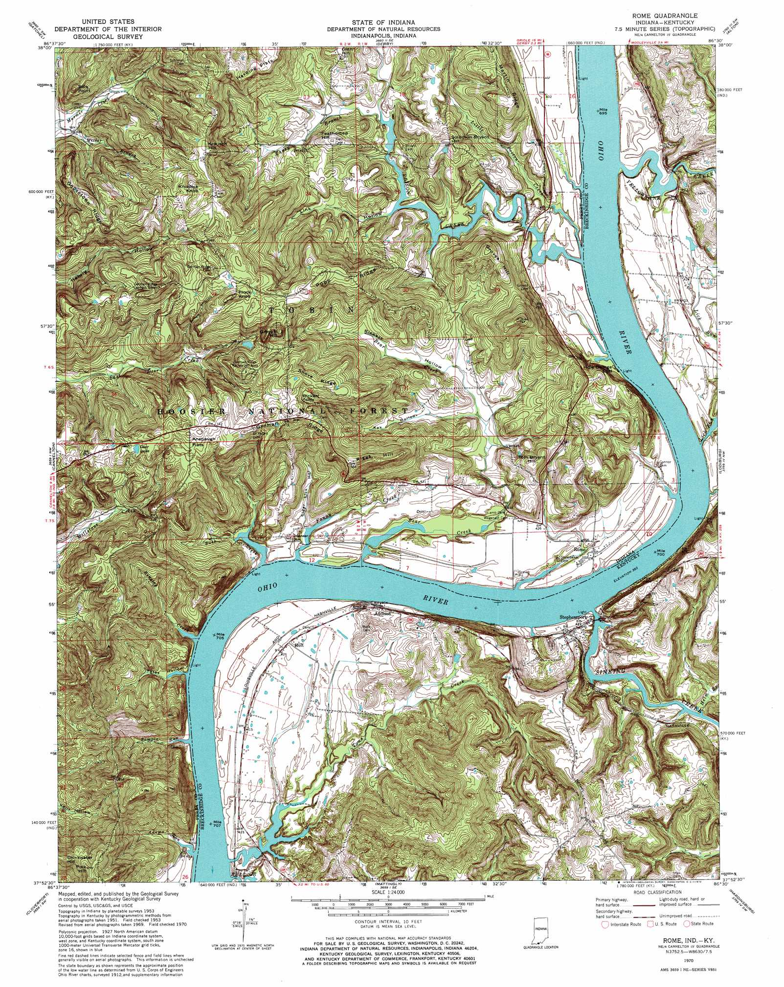 Topographic Map Of Rome.Rome Topographic Map In Ky Usgs Topo Quad 37086h5