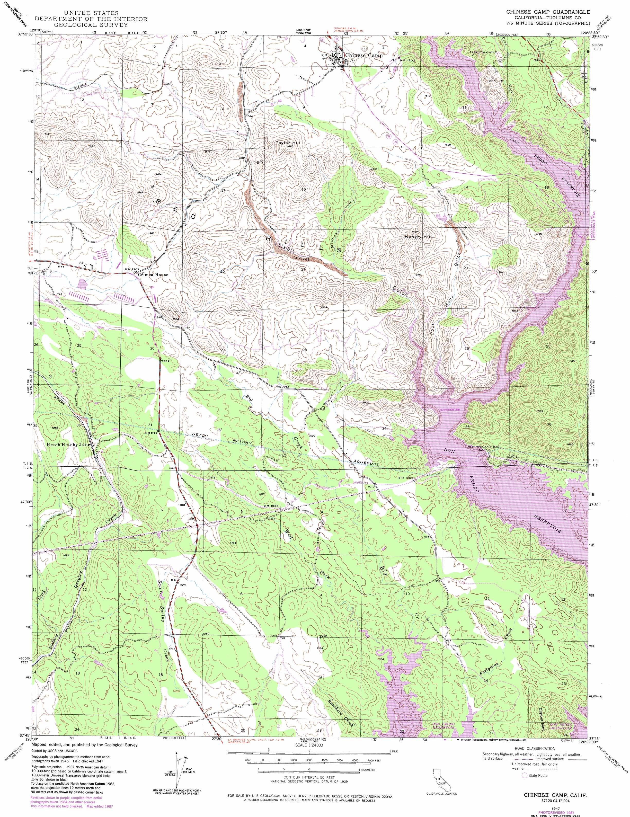 Chinese Camp topographic map CA USGS Topo Quad 37120g4