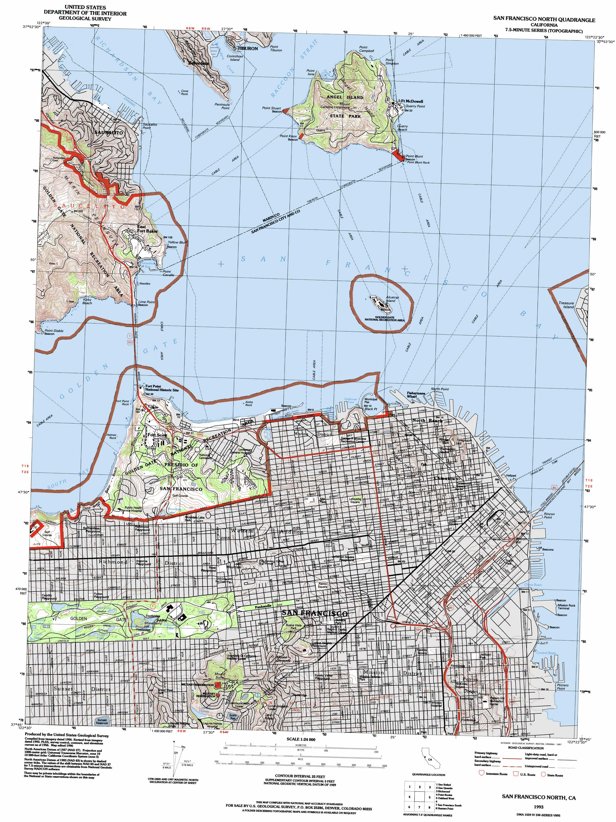 San Francisco North topographic map, CA - USGS Topo Quad 37122g4