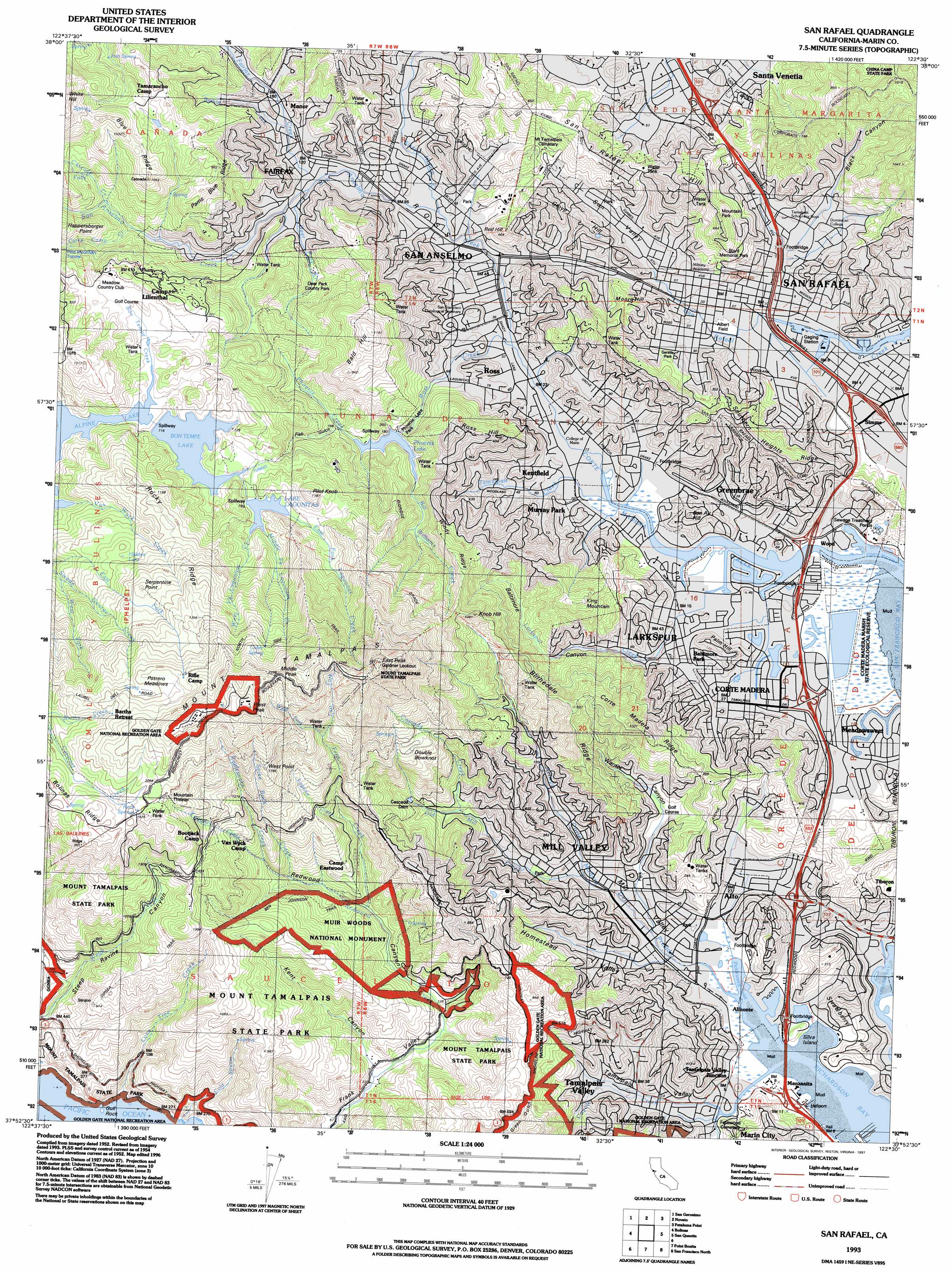San Rafael Topographic Map CA USGS Topo Quad H - Us geological survey topographic maps for sale