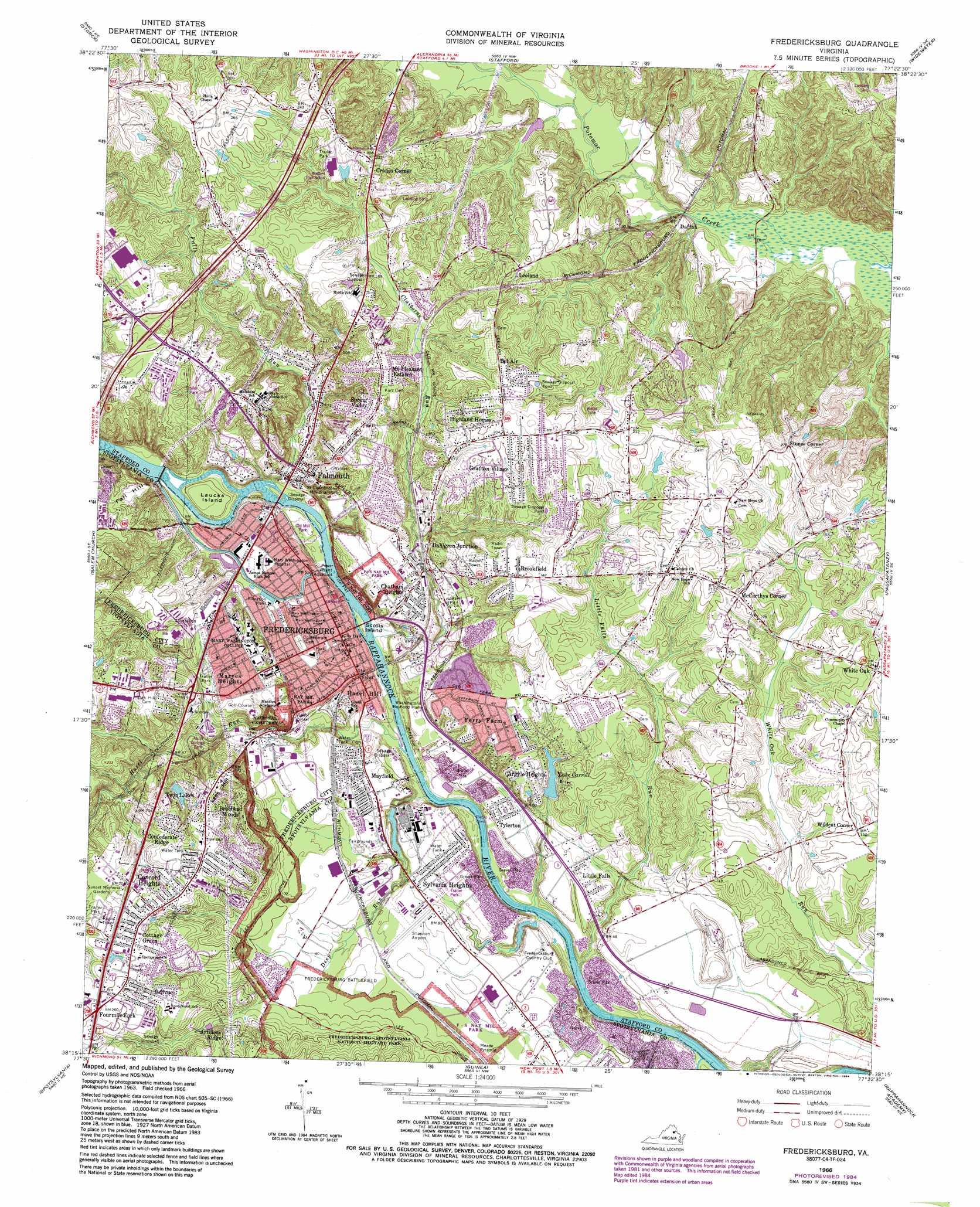 Fredericksburg Topographic Map Va Usgs Topo Quad 38077c4