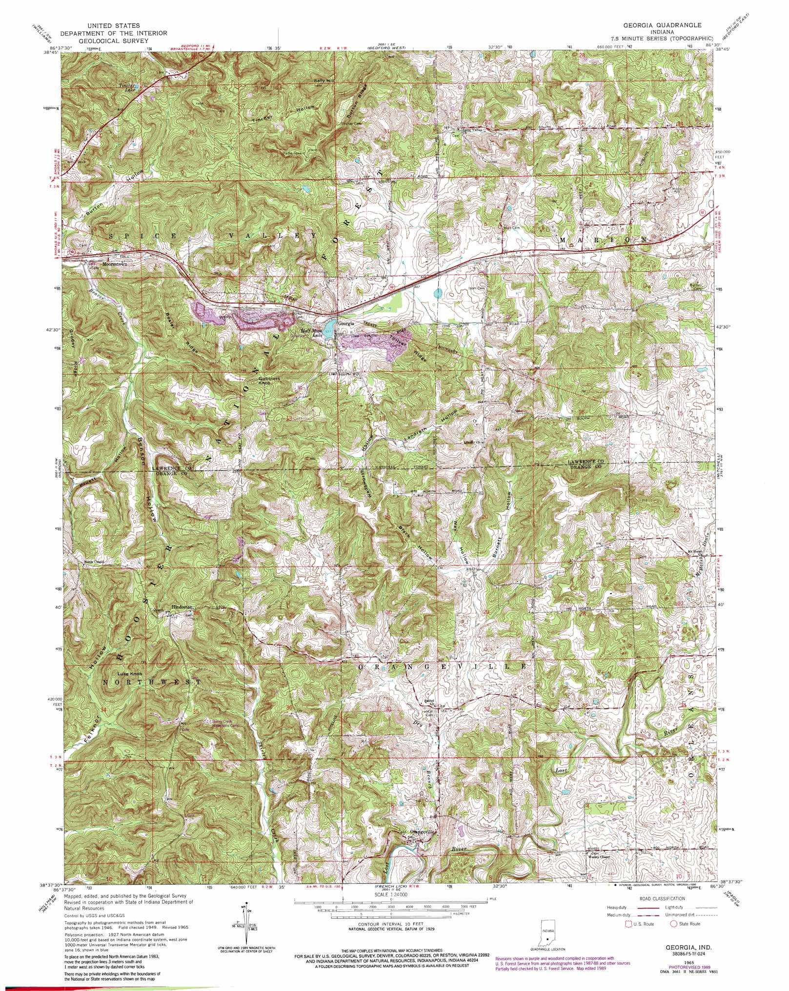 Georgia Topographic Map IN USGS Topo Quad F - Georgia topographic map