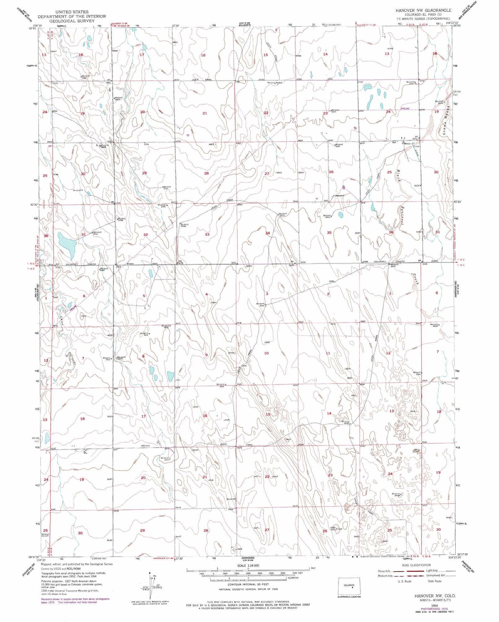 Hanover Nw Topographic Map Co Usgs Topo Quad 38104f4