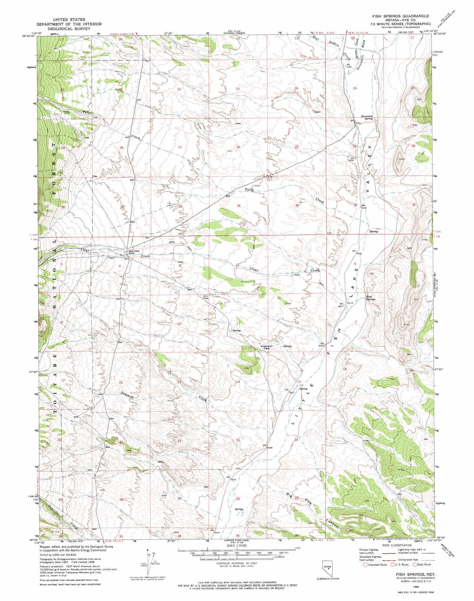 Topographic map nevada bnhspine fish springs topographic map nv usgs topo quad 38116g4 buycottarizona Image collections
