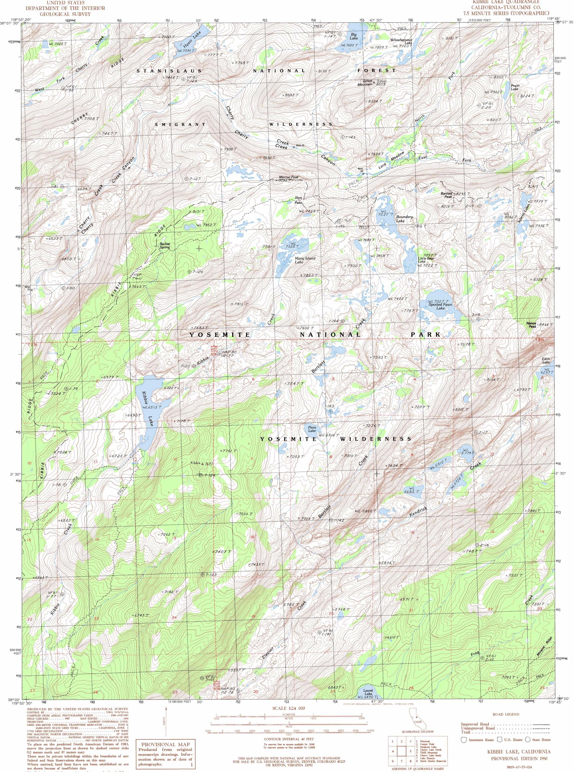 Kibbie Lake topographic map CA USGS Topo Quad 38119a7