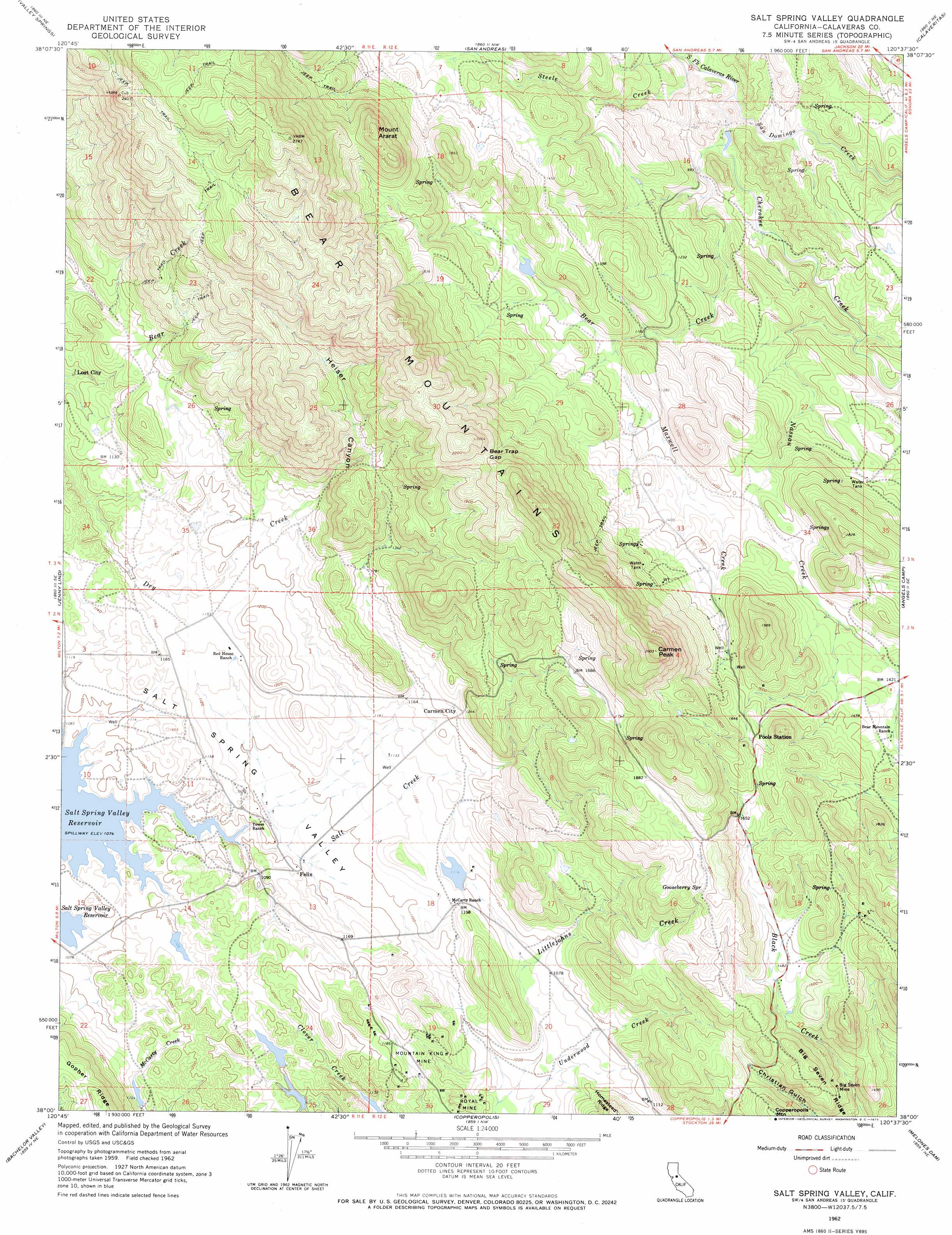 Salt Spring Valley topographic map CA USGS Topo Quad 38120a6