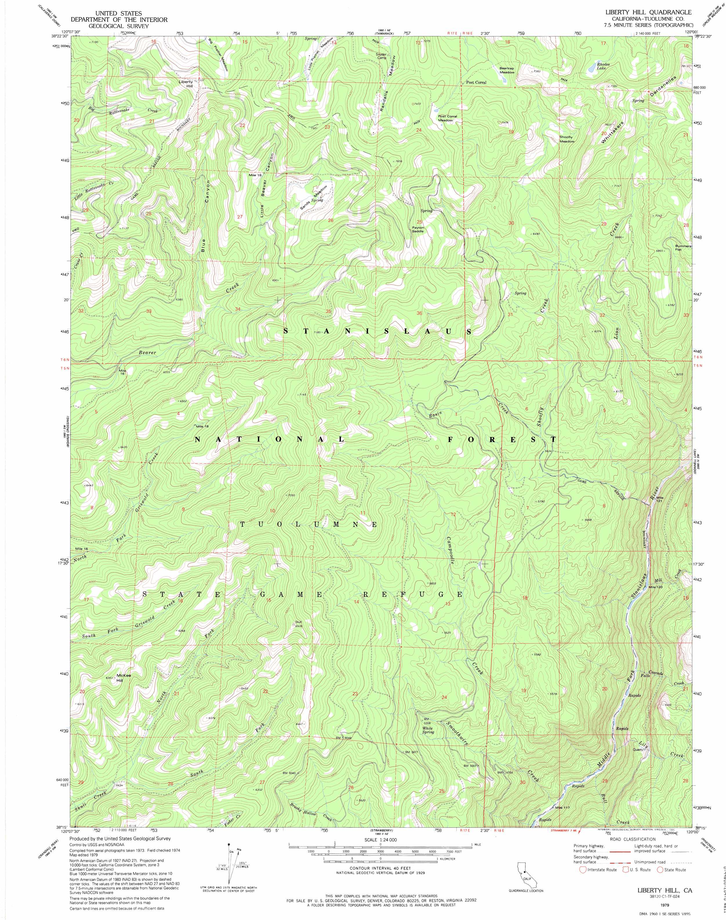 Liberty Hill Topographic Map Ca Usgs Topo Quad 38120c1