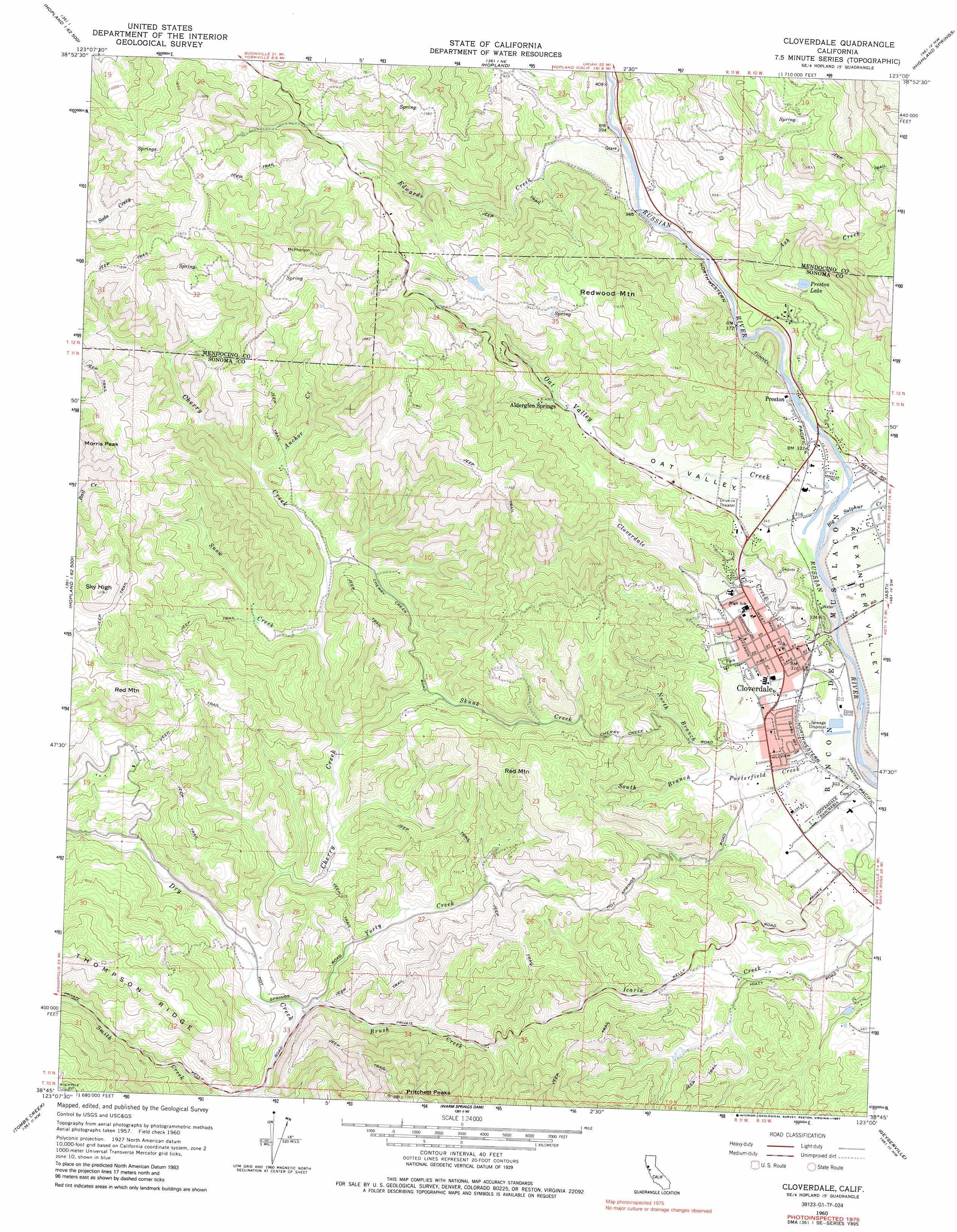 Cloverdale topographic map CA USGS Topo Quad 38123g1