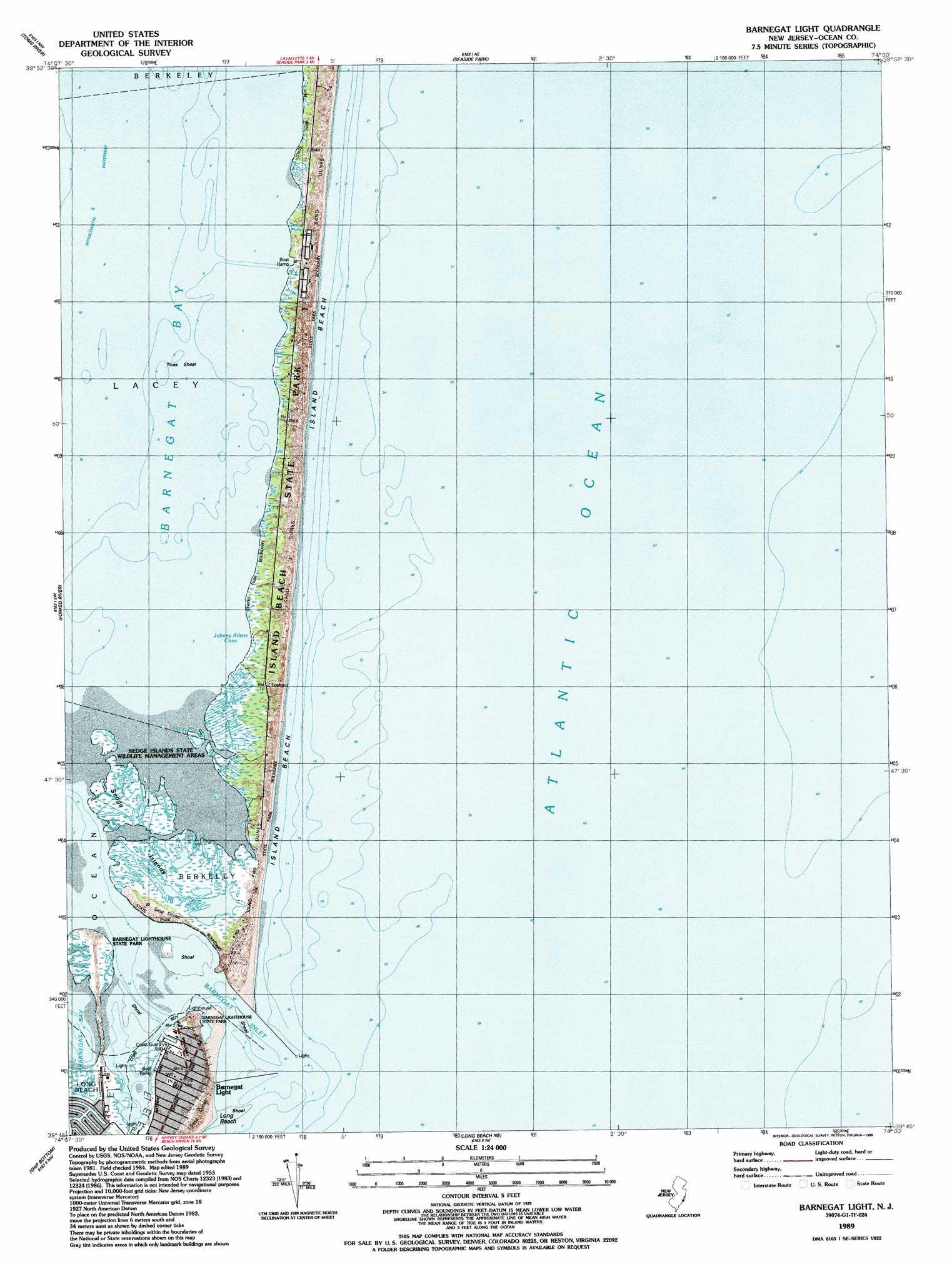 Barnegat Light topographic map NJ USGS Topo Quad g1