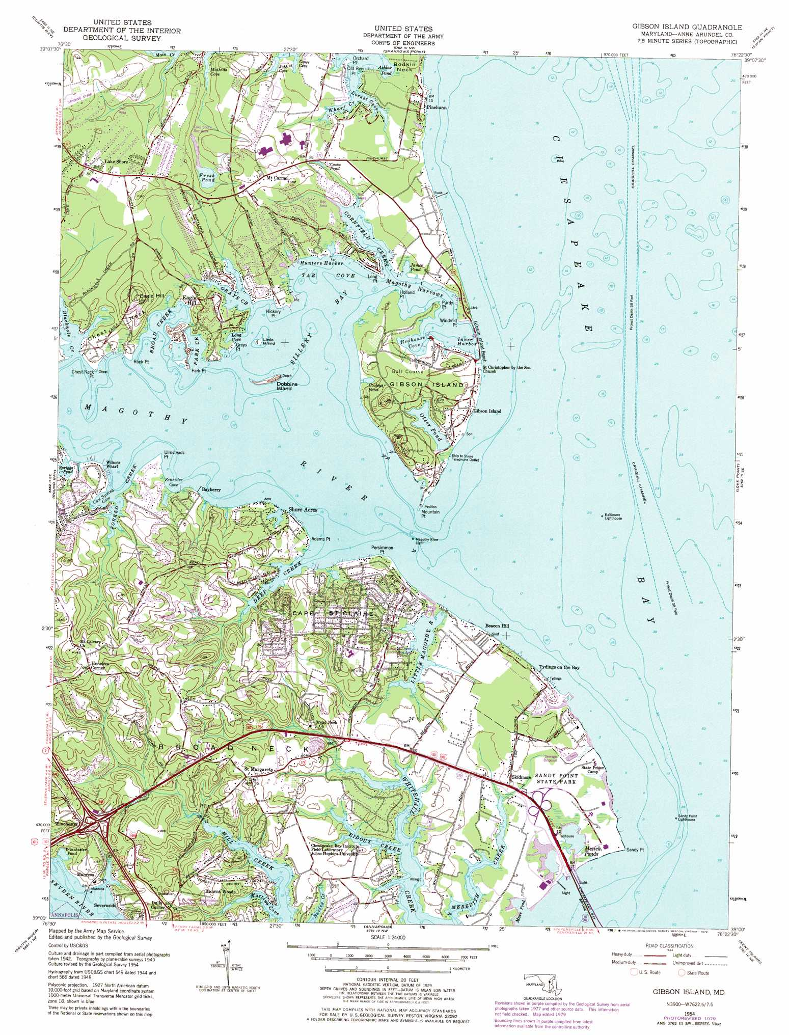 Gibson Island Topographic Map MD  USGS Topo Quad 39076a4