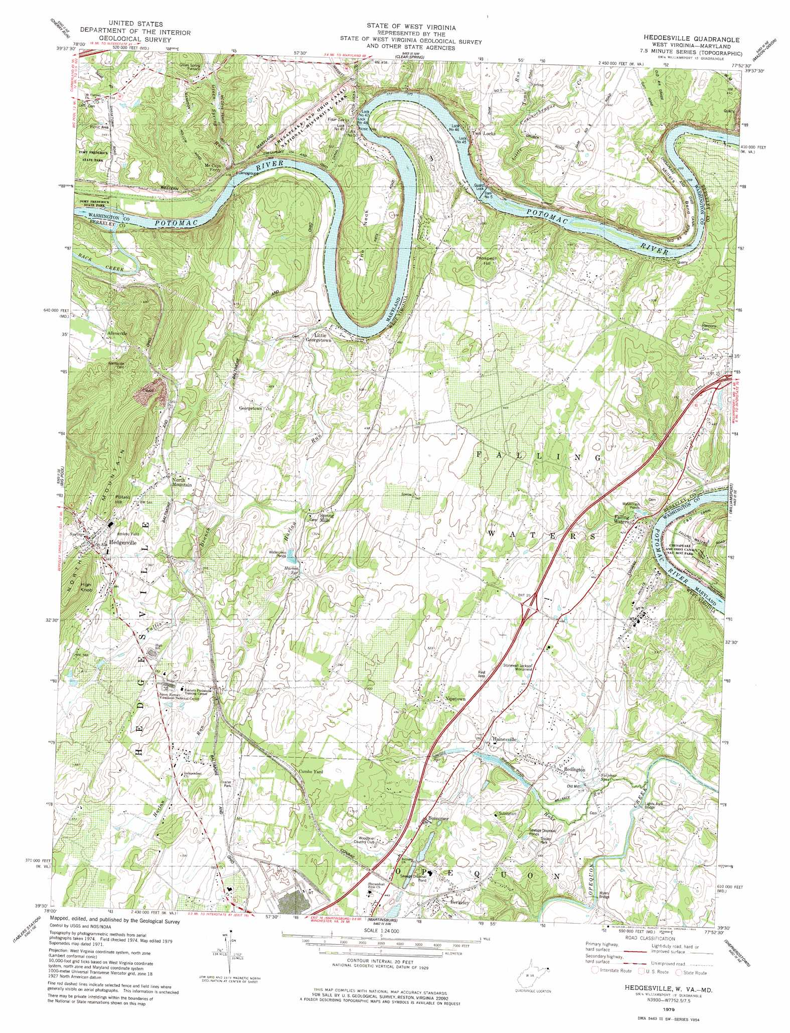 Hedgesville Topographic Map Wv Md Usgs Topo Quad 39077e8