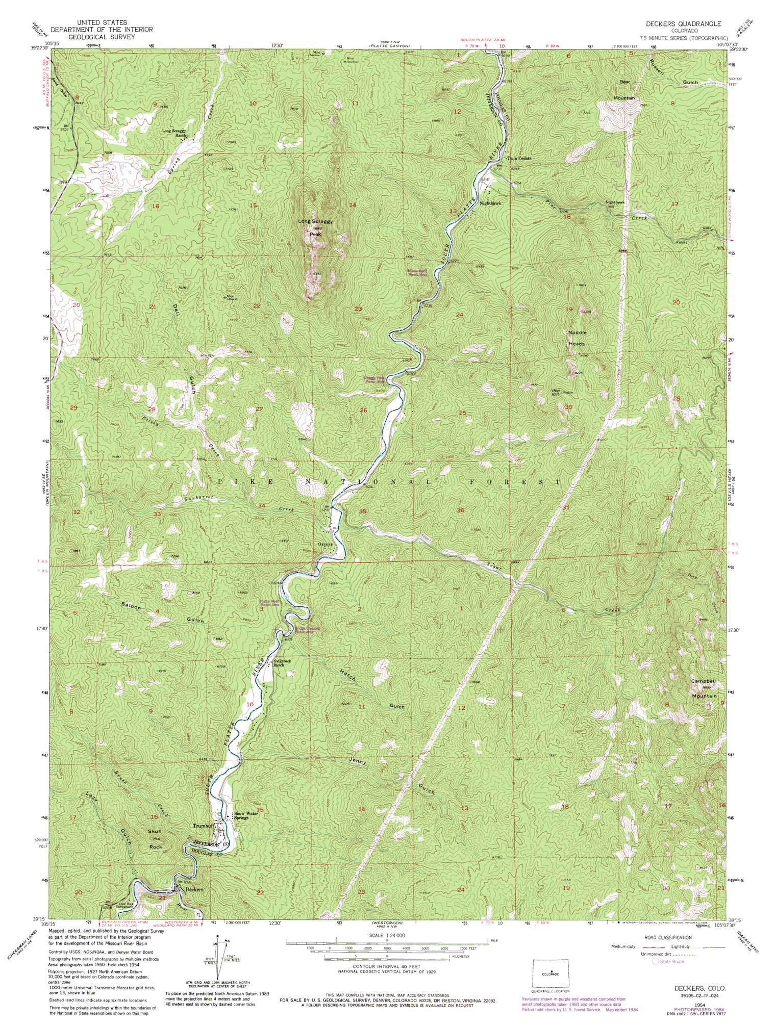 Deckers Colorado Map.Deckers Topographic Map Co Usgs Topo Quad 39105c2
