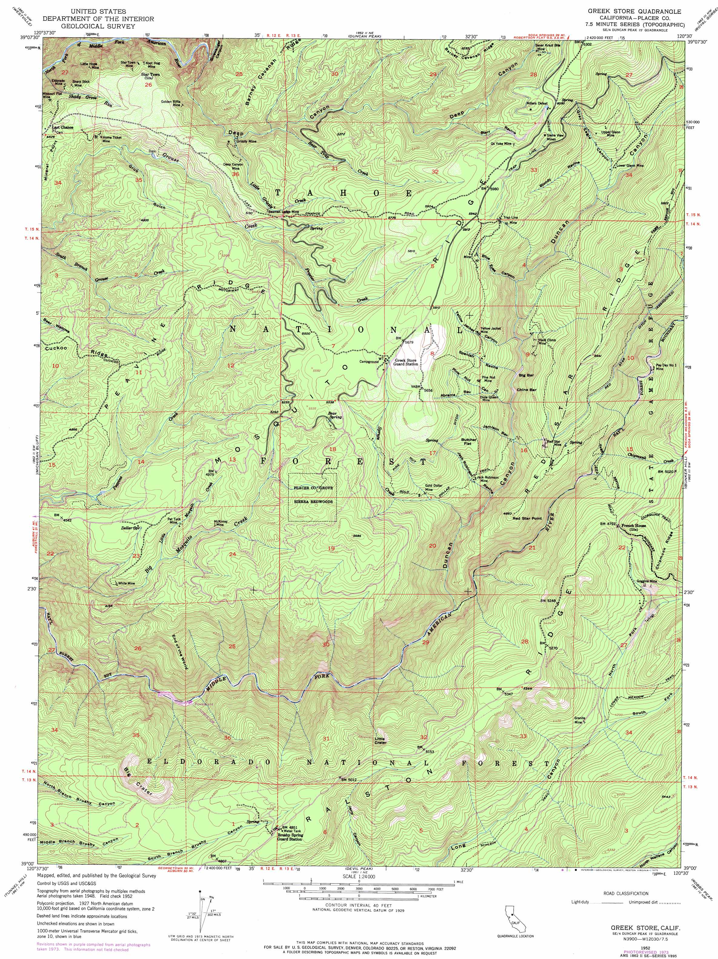 Greek Store Topographic Map CA USGS Topo Quad A - Usgs map store