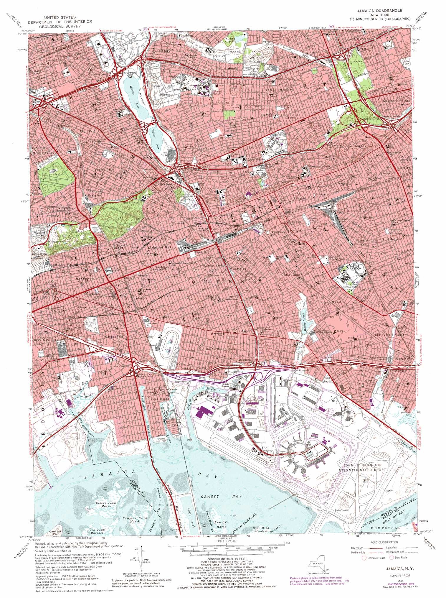 Jamaica Topographic Map Ny Usgs Topo Quad 40073f7