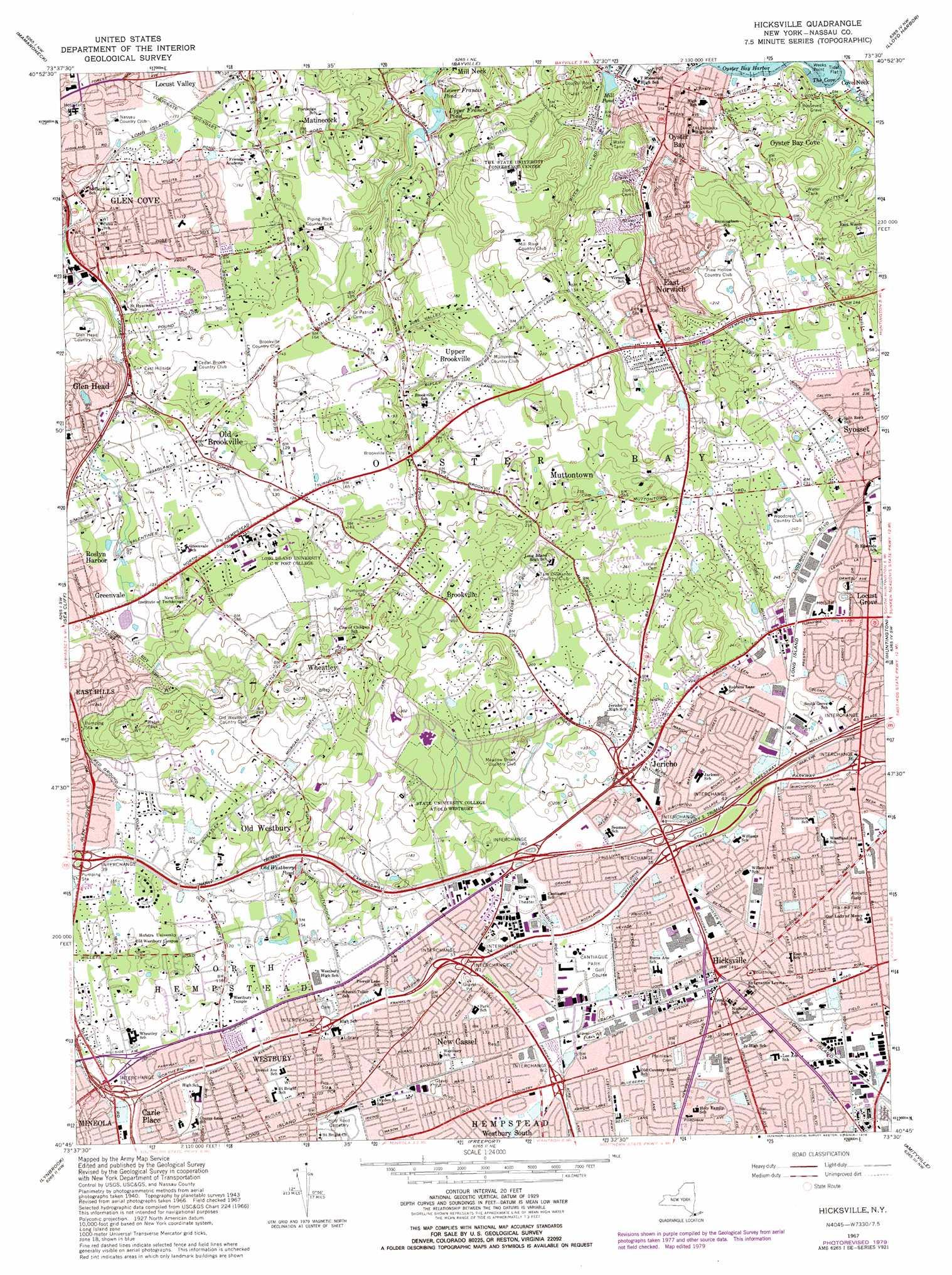 Hicksville Topographic Map Ny Usgs Topo Quad 40073g5