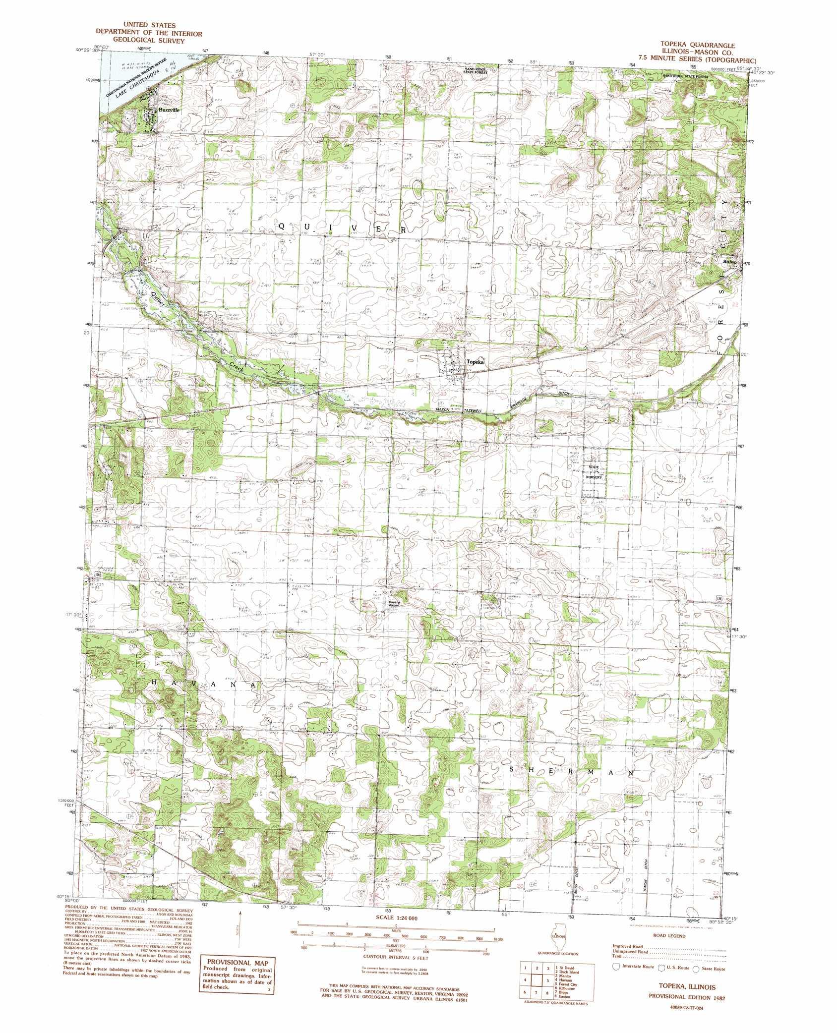 Topeka Topographic Map IL  USGS Topo Quad 40089c8