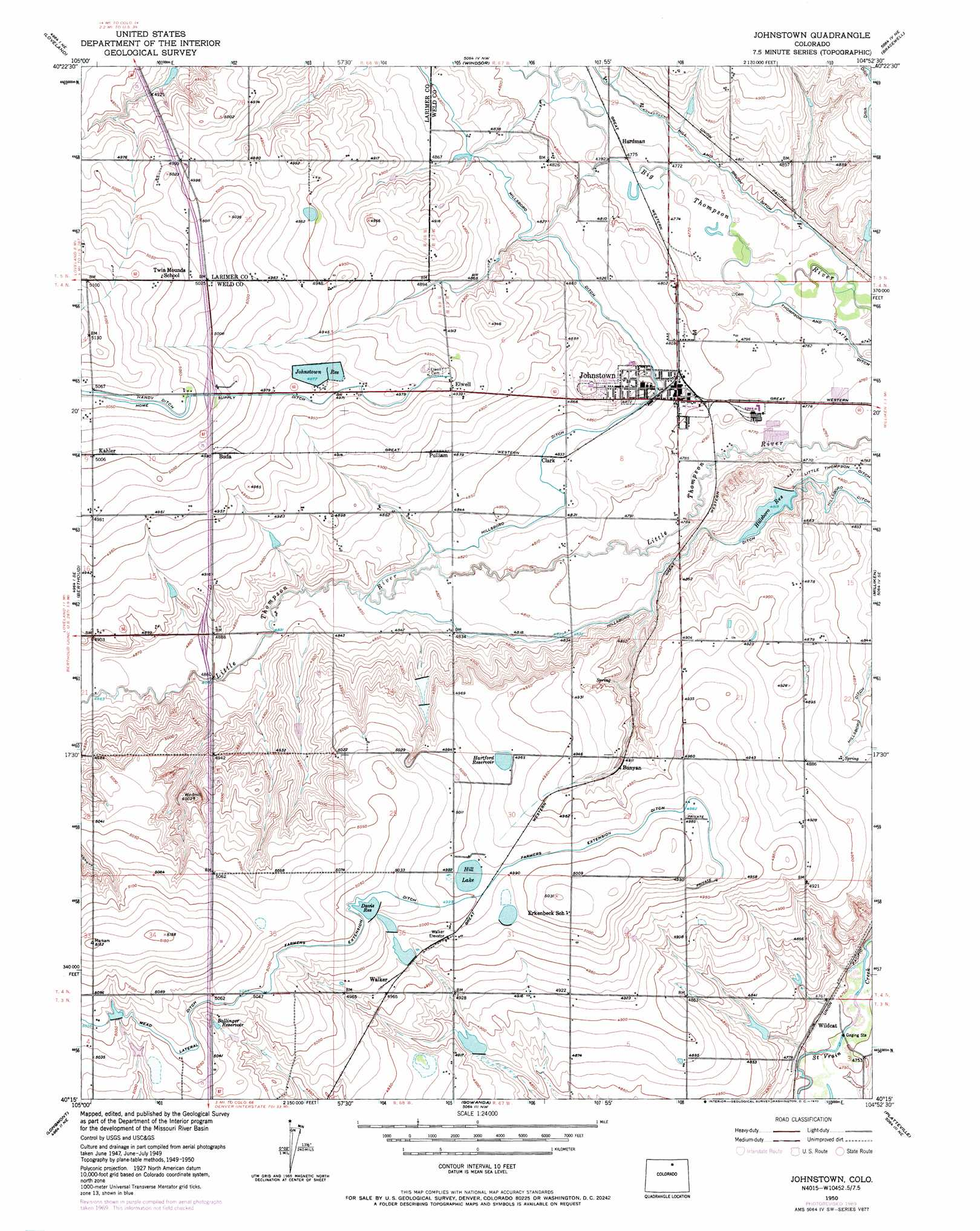 johnstown topographic map  co