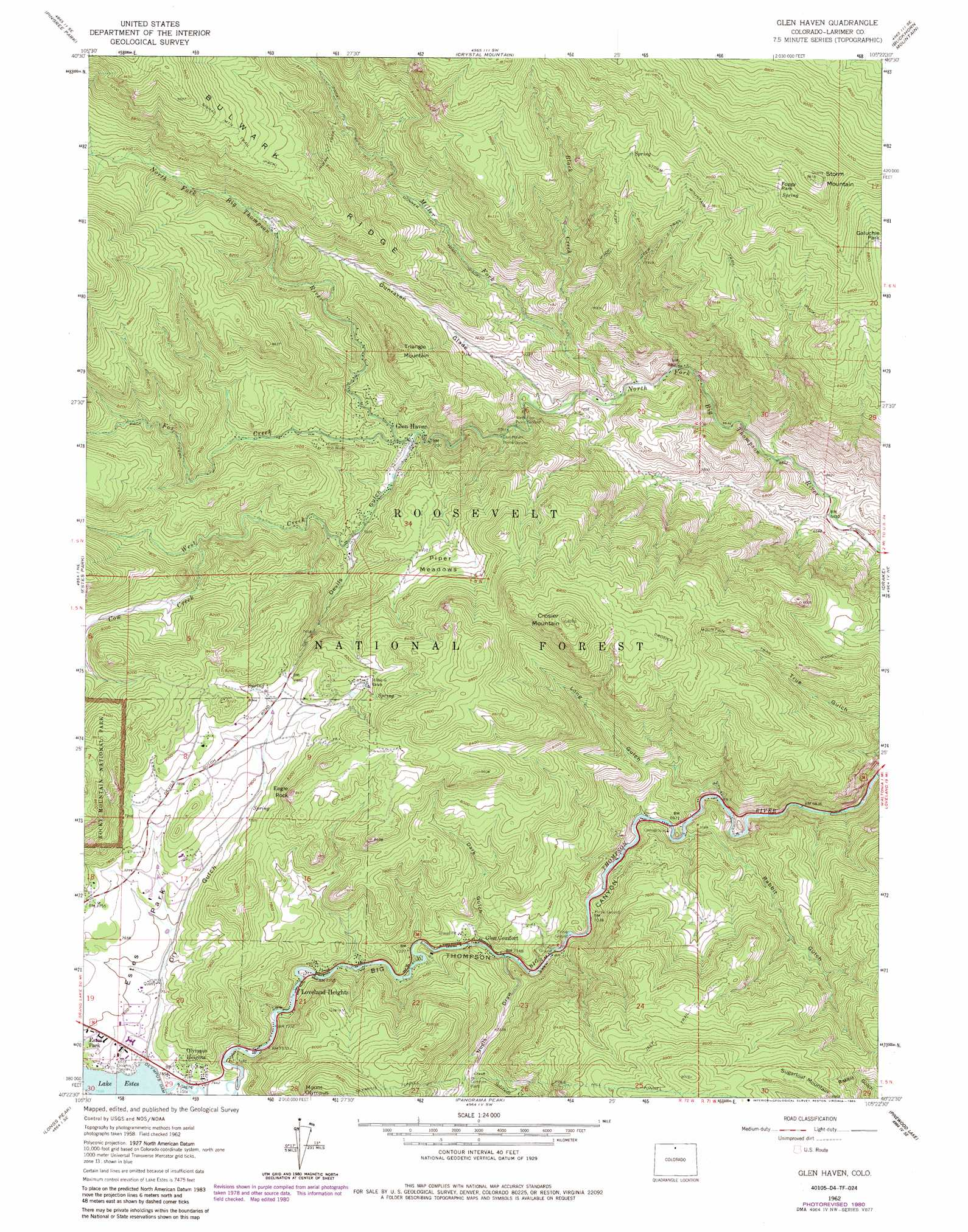Glen Haven Topographic Map Co Usgs Topo Quad 40105d4