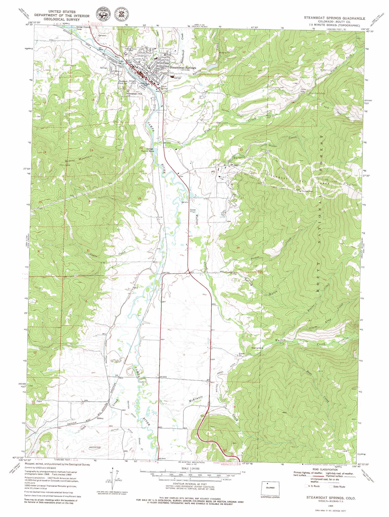 Steamboat Springs Buy This Steamboat Springs Topo Map