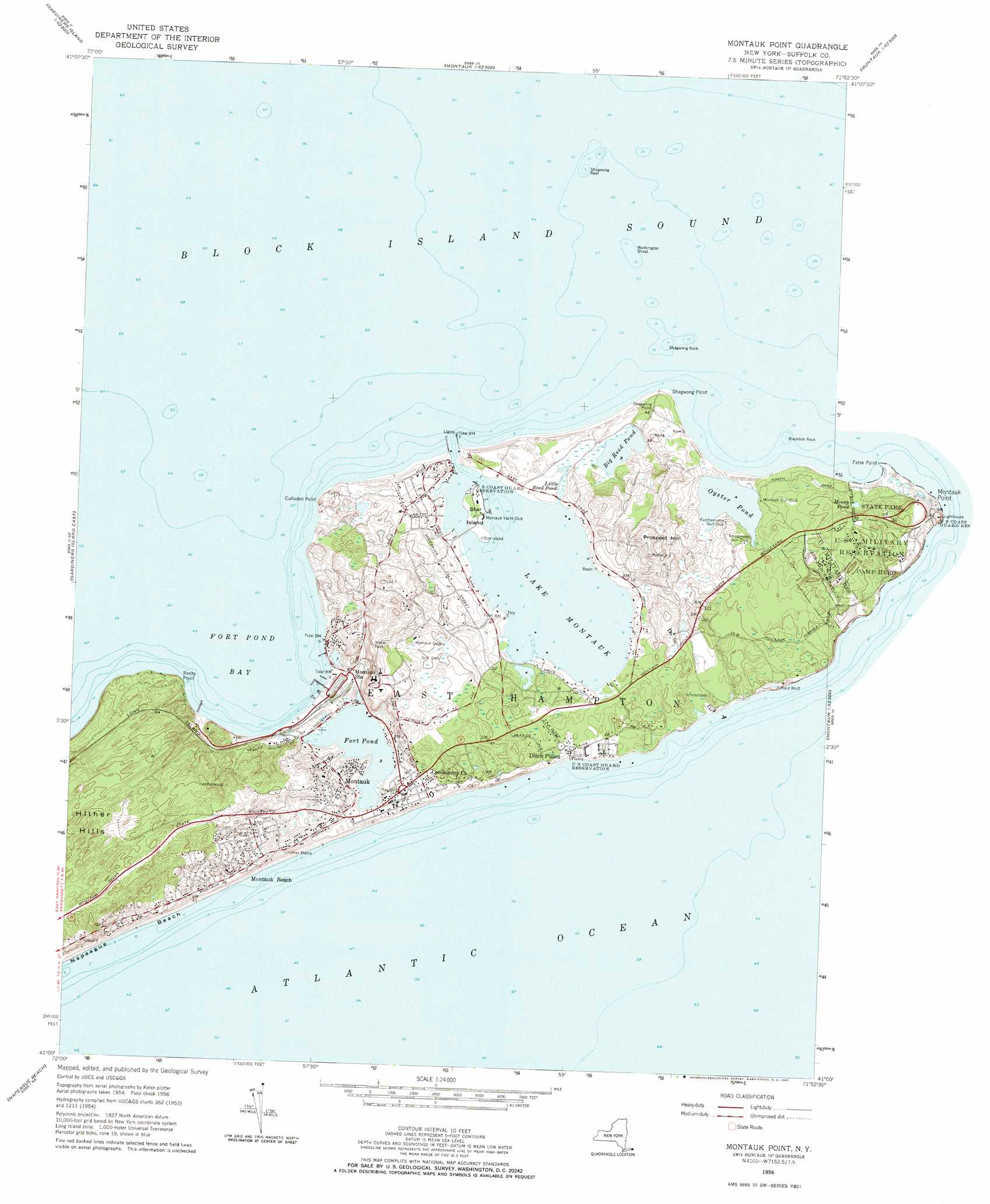 montauk point topographic map ny usgs topo quad a8