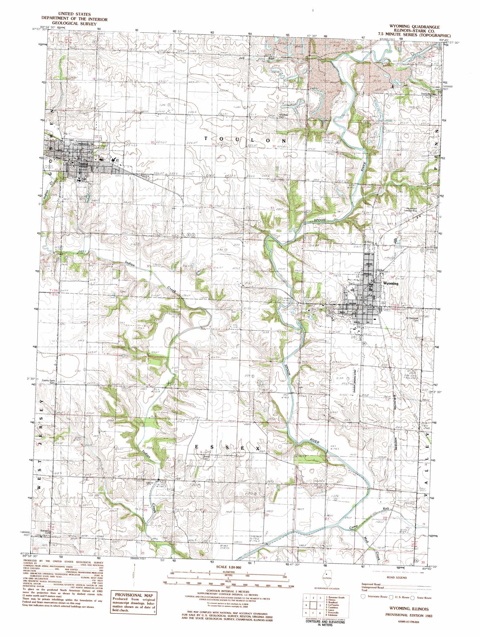 Wyoming Topographic Map IL  USGS Topo Quad 41089a7
